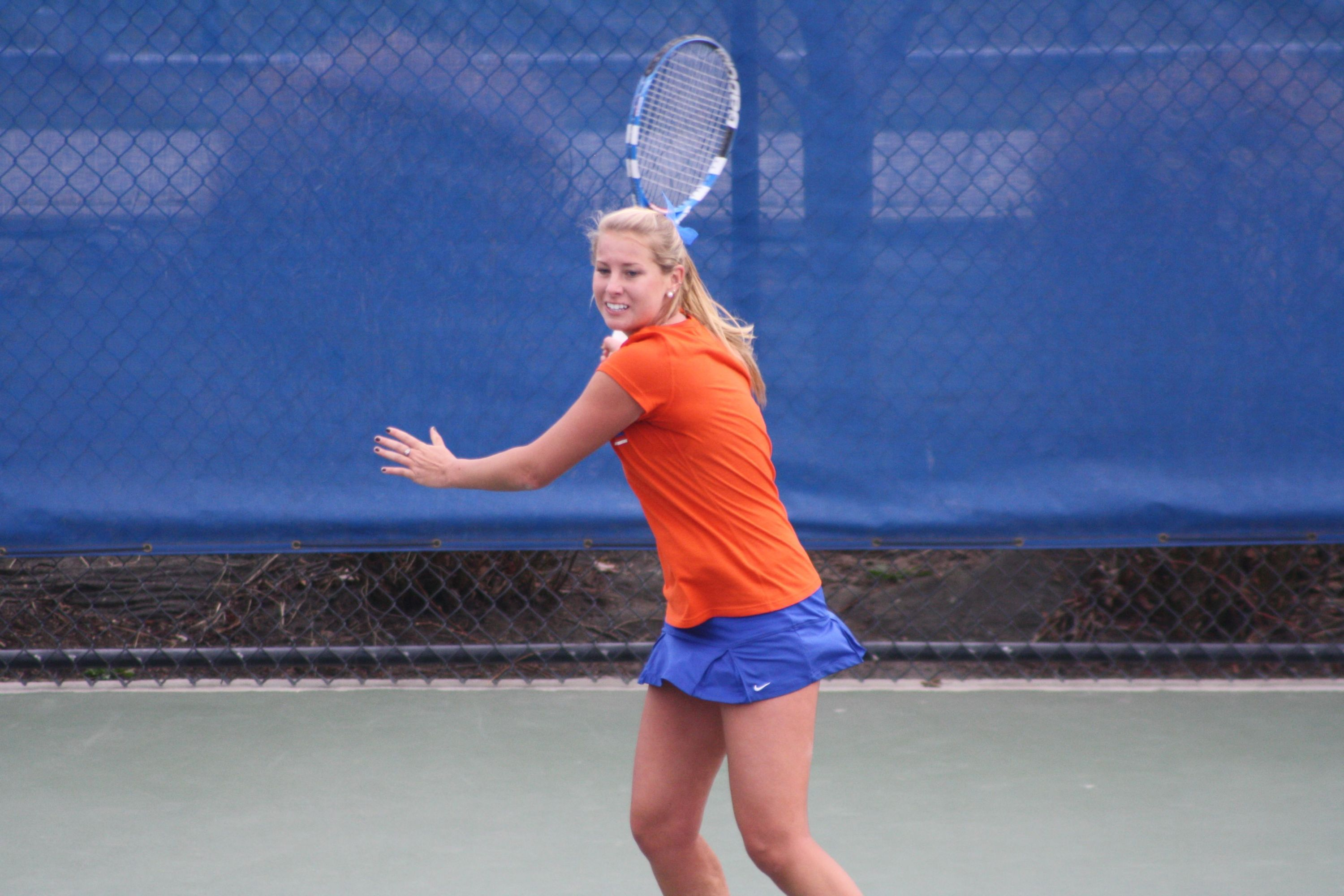 Morgan Basil victory on court three clinched the match