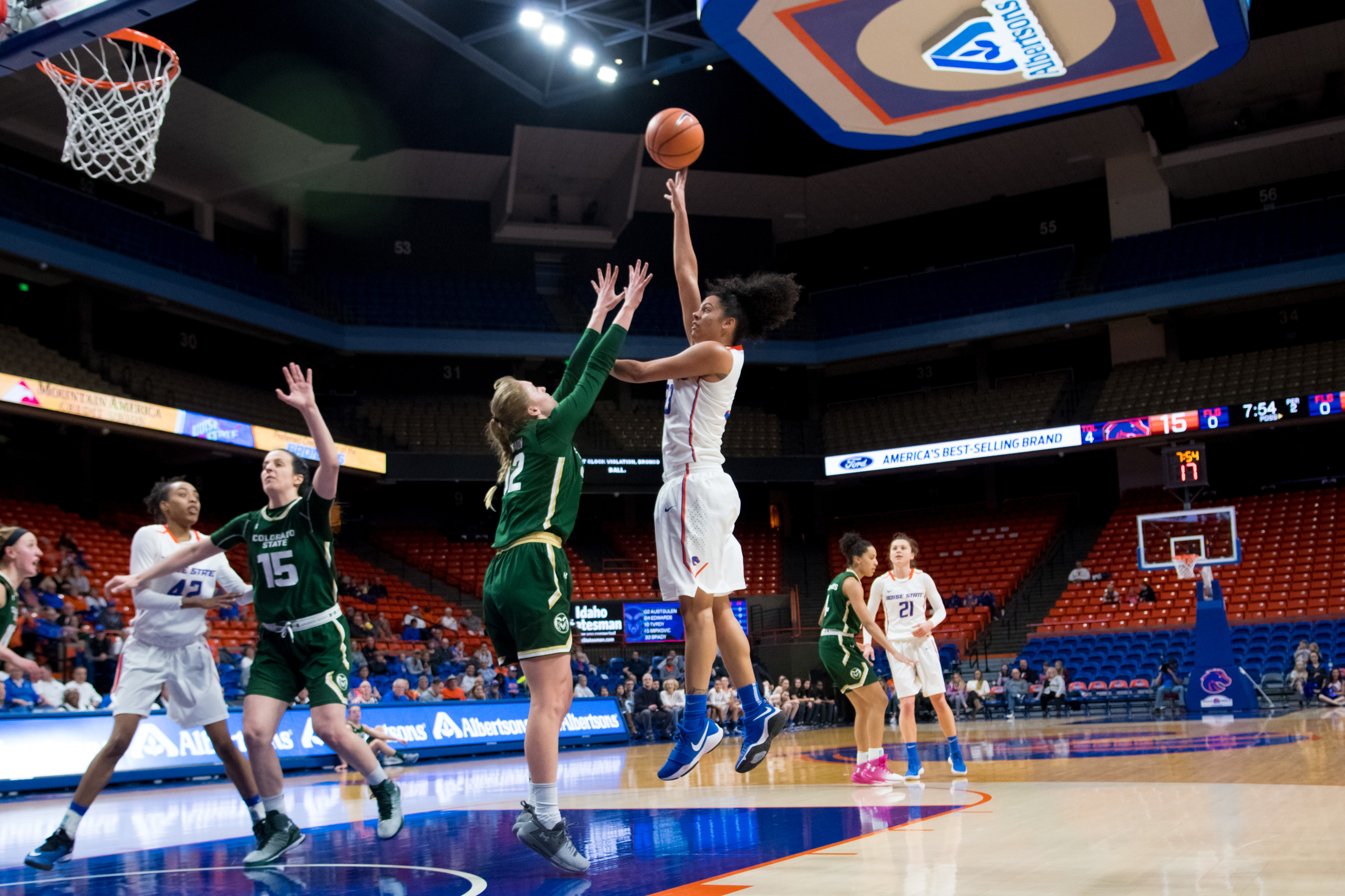 Joyce Harrell, Women's Basketball vs. Colorado State, Spring, Jessica Vargas Phot