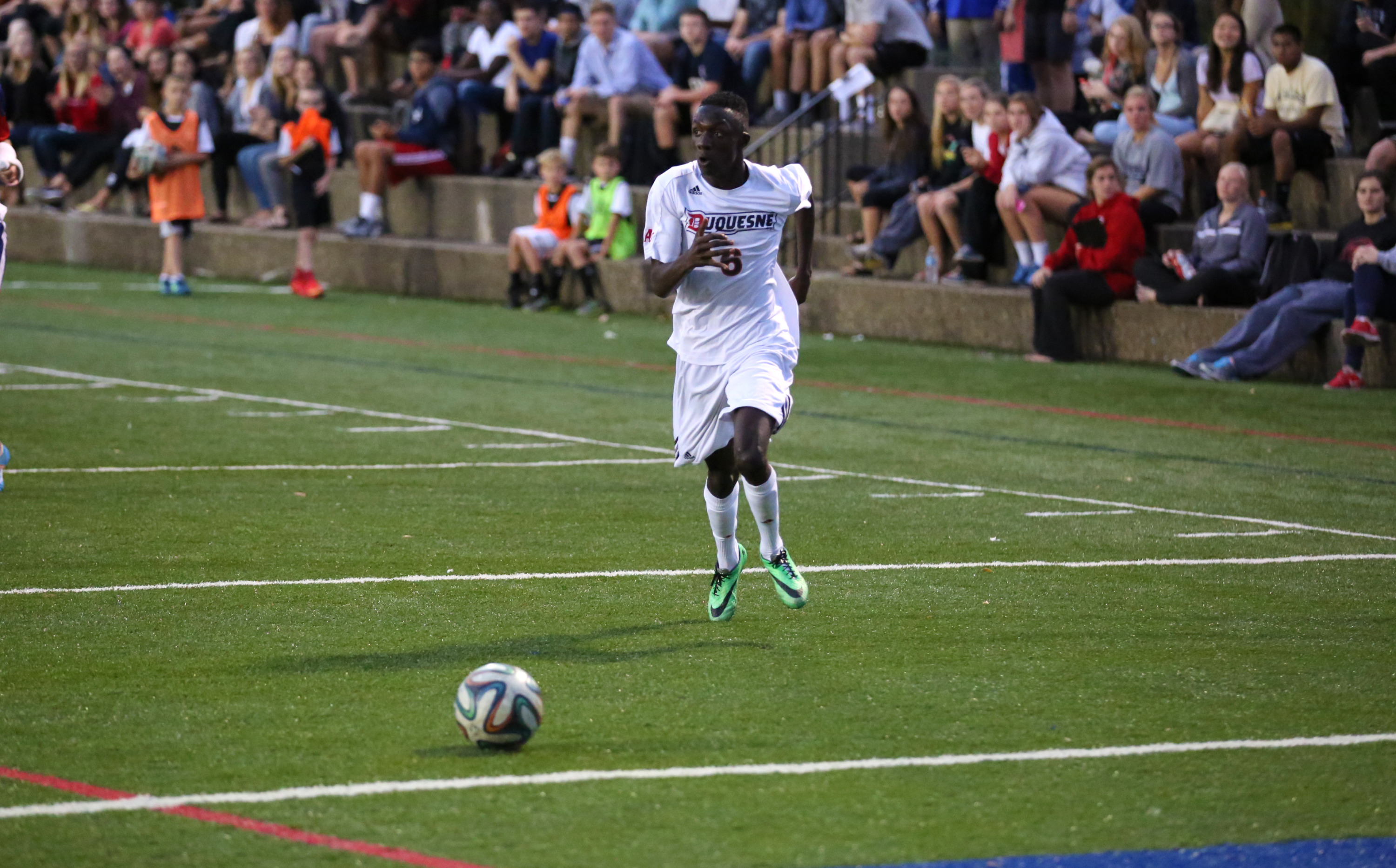 Dorian Kouame had a pair of assists for the Dukes.