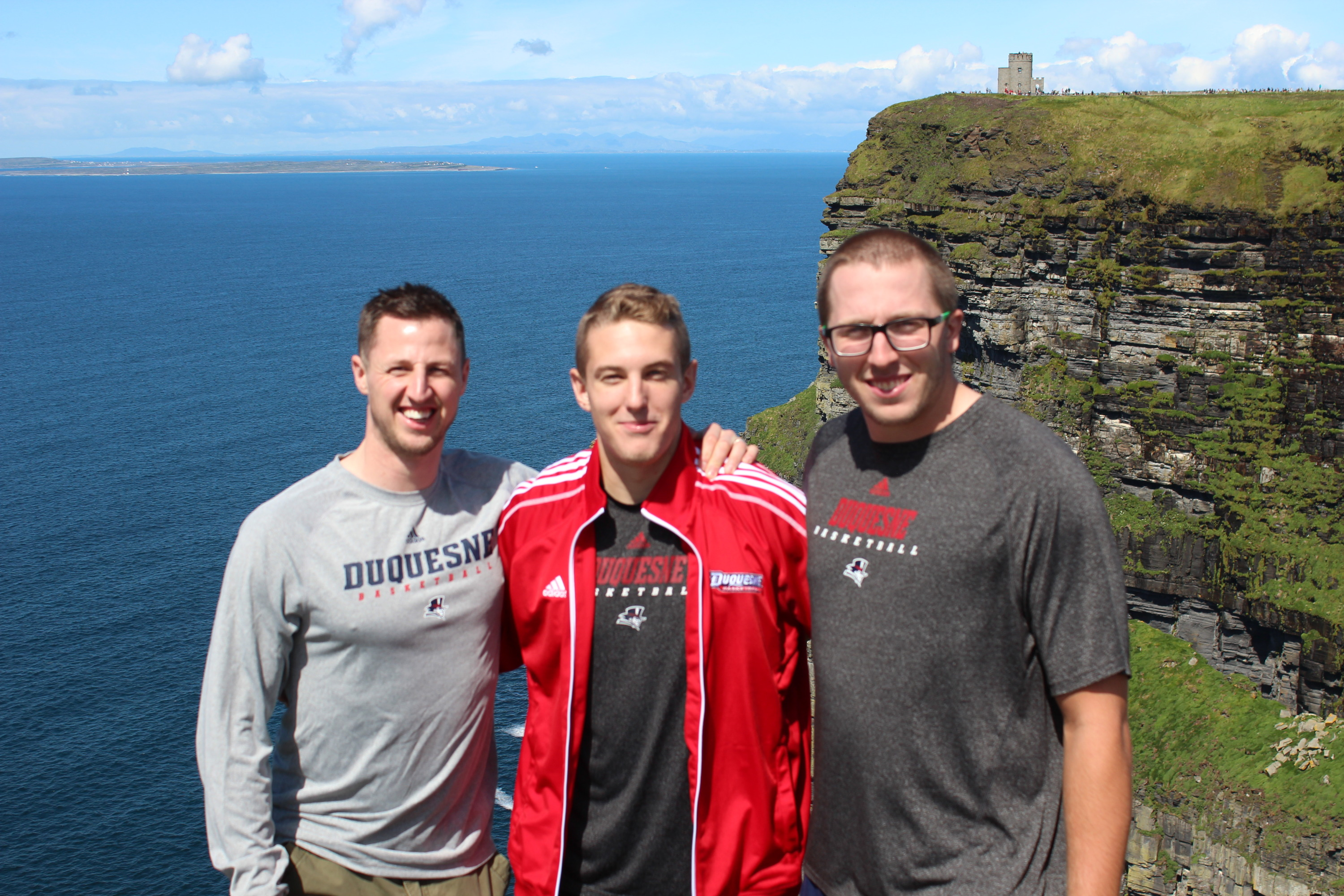David Haus and Nick Foschia at the Cliffs of Moher.