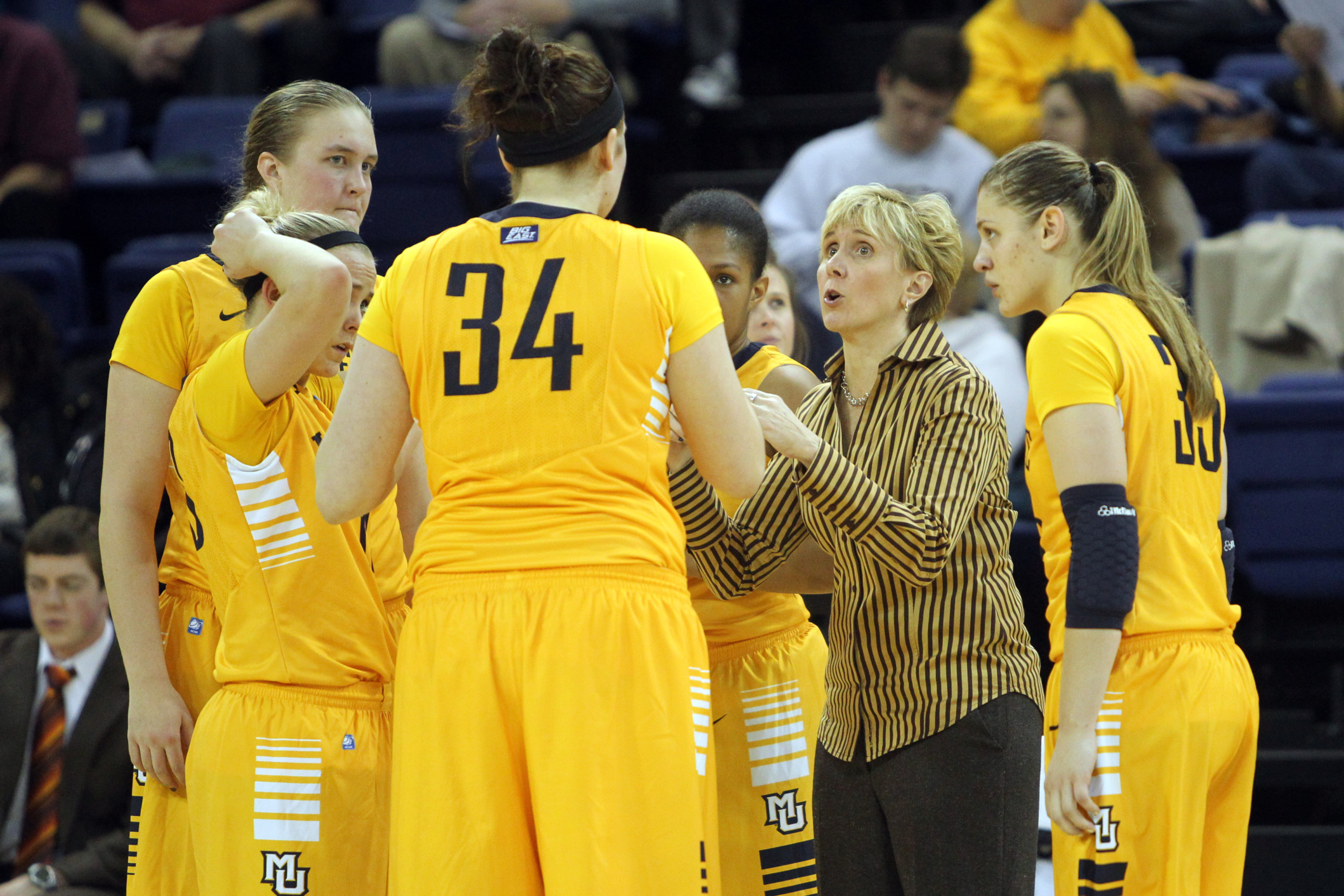 Head coach Terri Mitchell and the Golden eagles will face Seton Hall twice in February