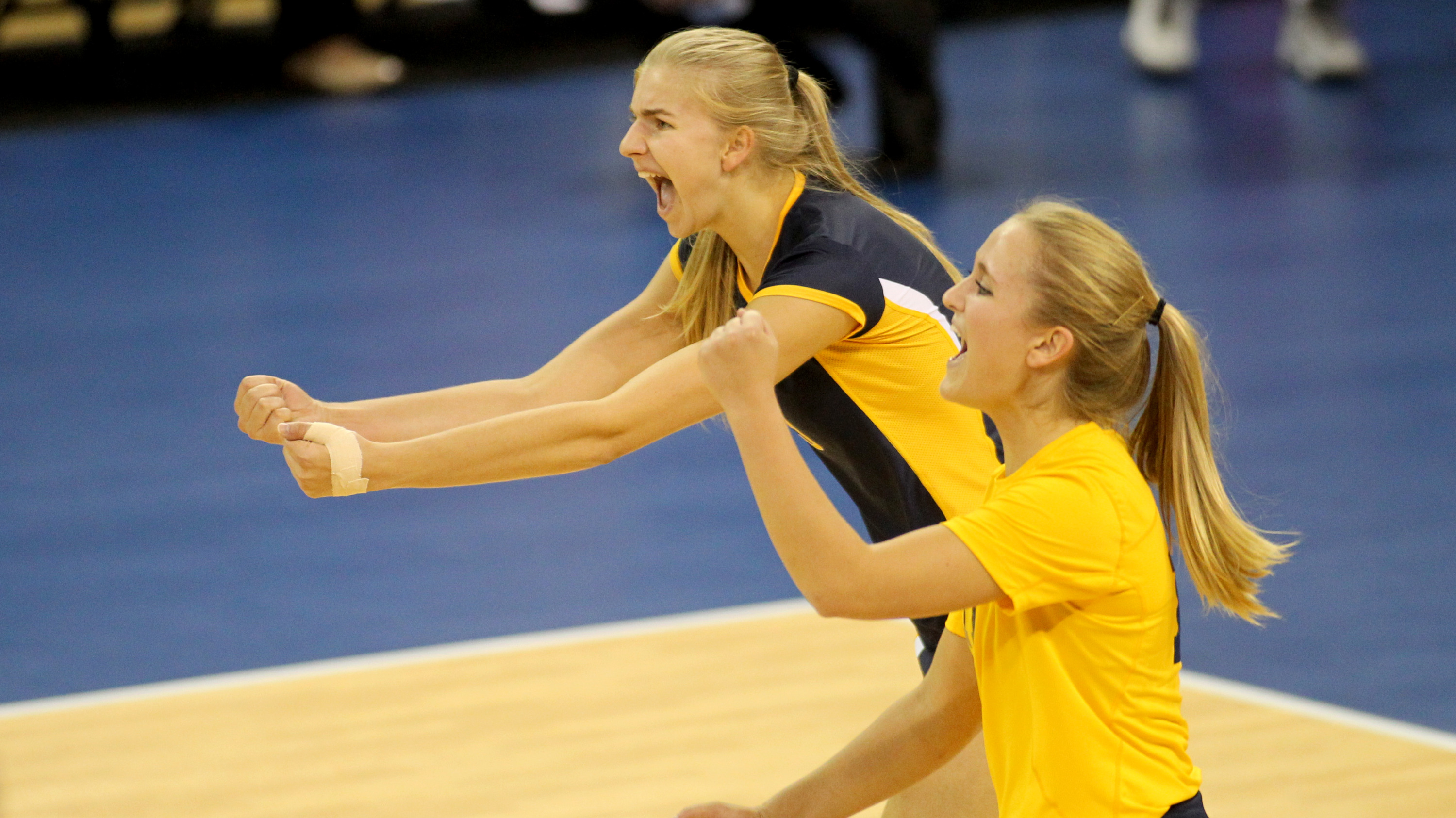 Marquette's all-tournament honorees Nele Barber (left) and Lauren Houg.
