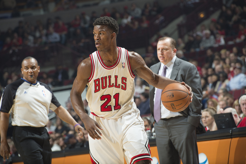 Jimmy Butler is in his third season with the Chicago Bulls, averaging 21.8 points, 5.5 assists and 4.0 boards per game