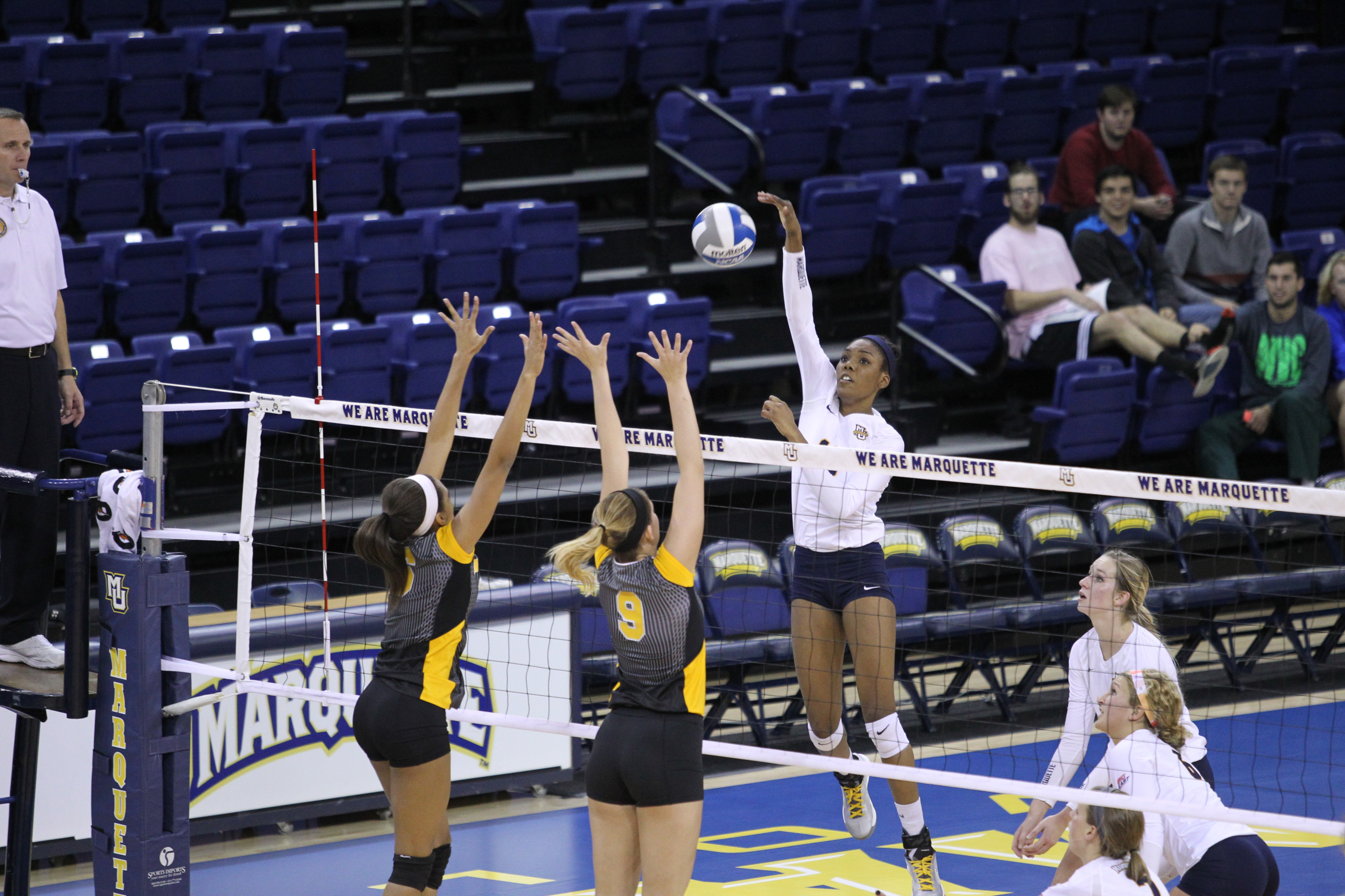 Taylor Louis continues to lead the BIG EAST with 5.05 kills per set