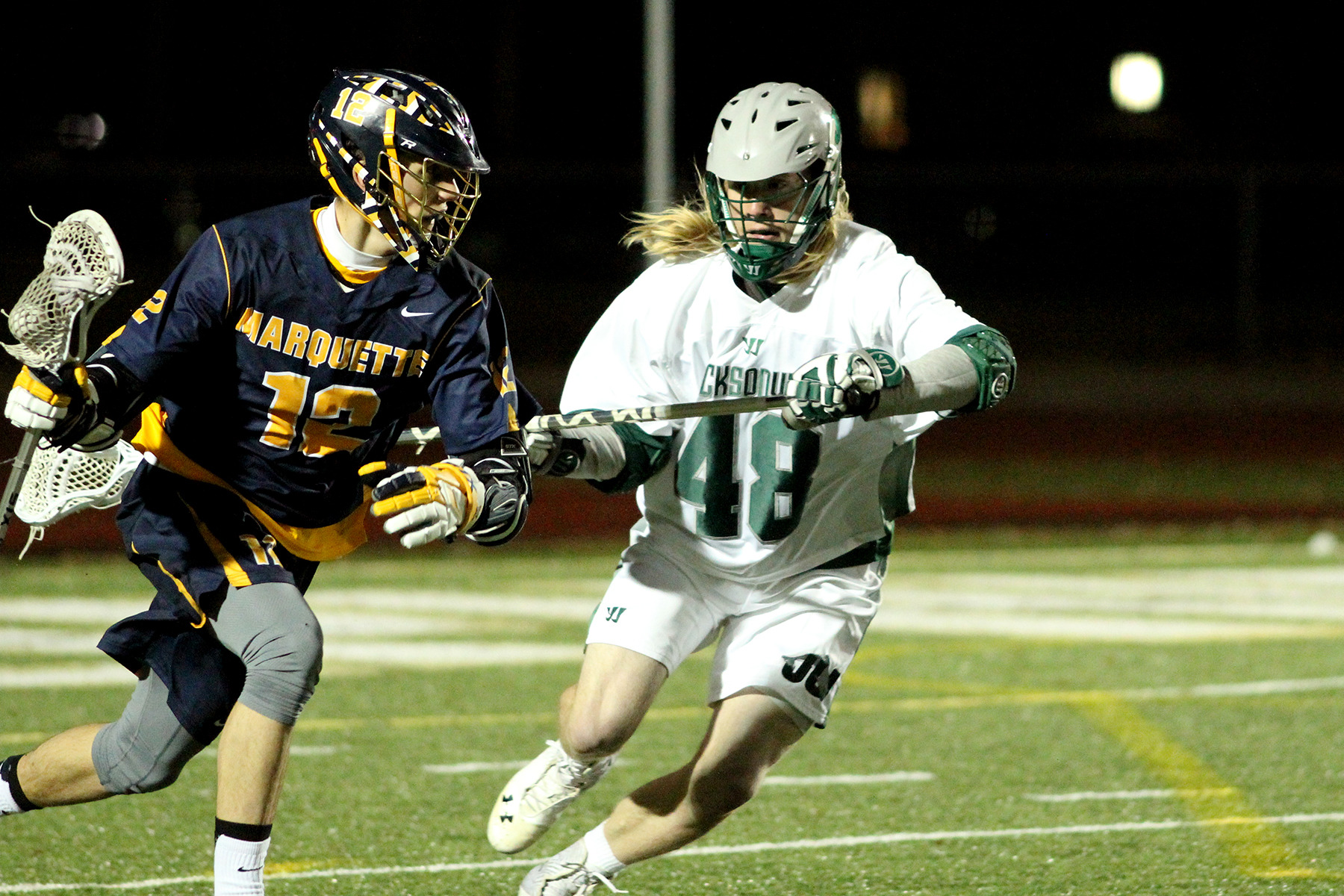 Conor Gately's Marquette single-game record five assists came at Mercer in 2013 (photo: Harry Archer).