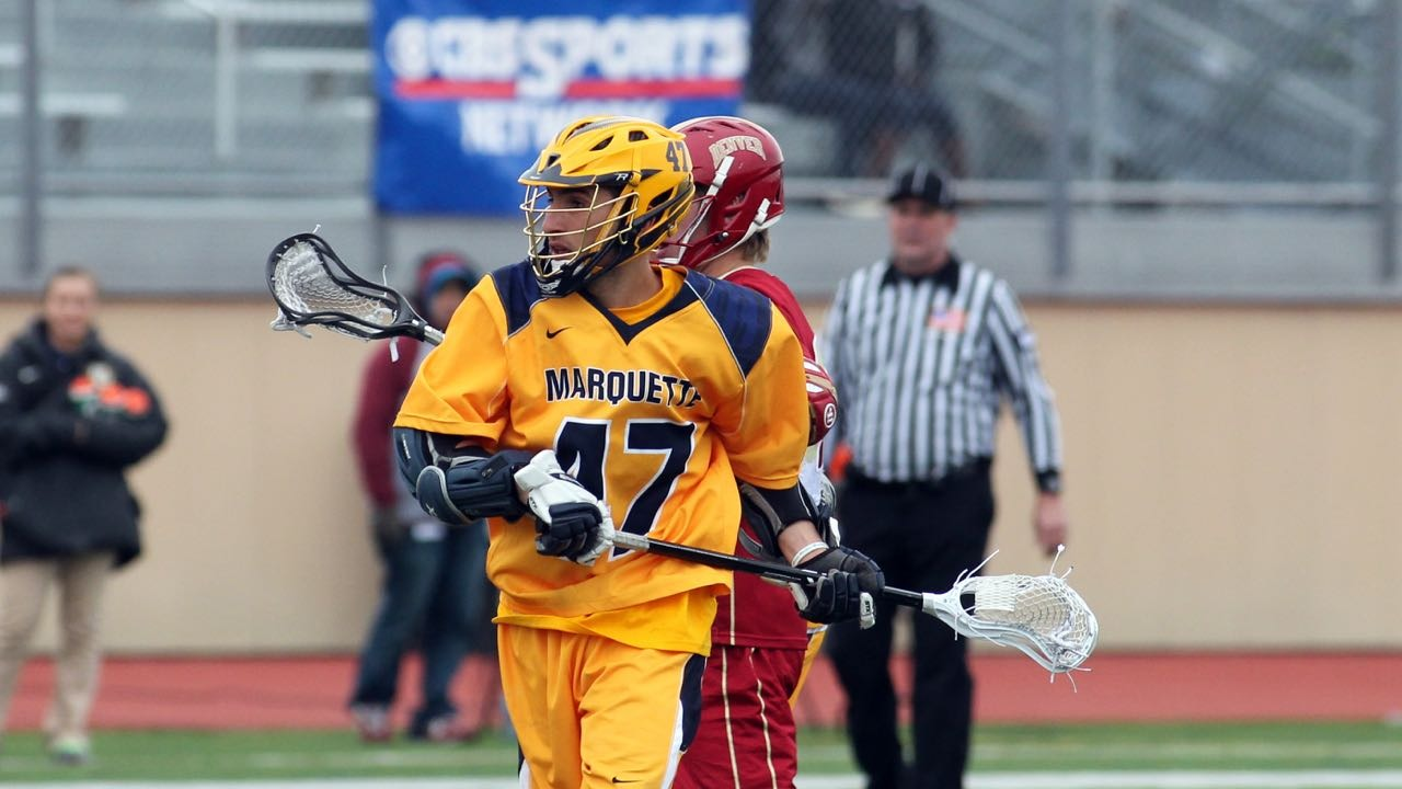 MU's Jordan Greenfield scored three goals and added two assists in Saturday's loss to Denver