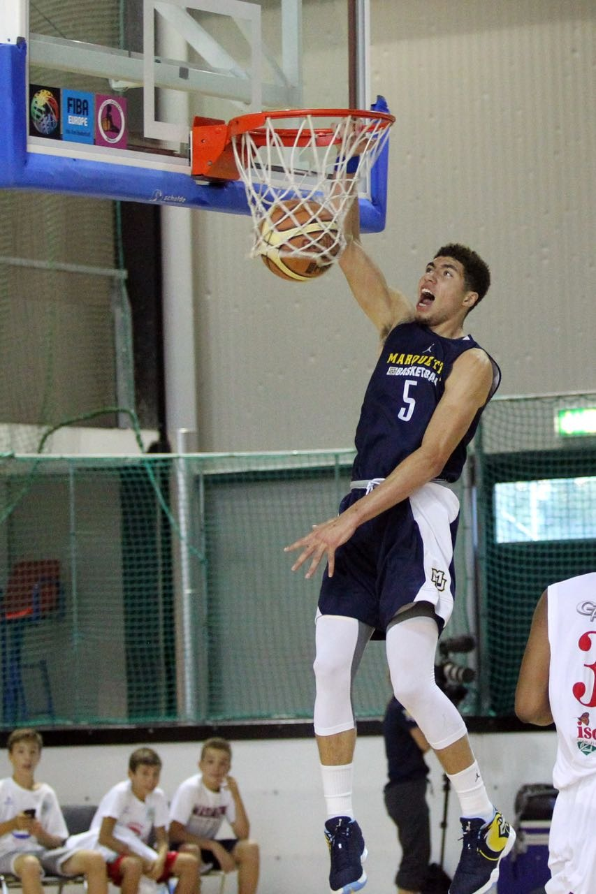 Sandy Cohen was halfway to a triple-double by halftime in Lugano.