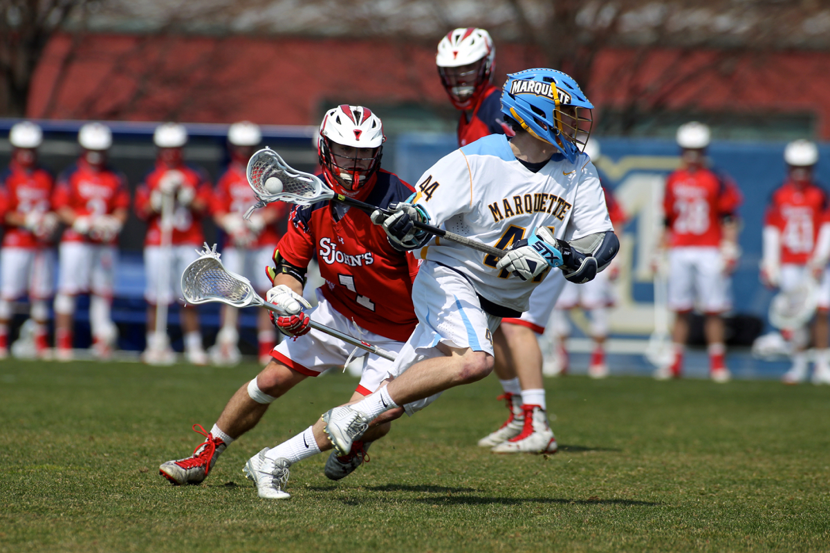Tanner Thomson's six goals are one shy of the Marquette program single-game record.