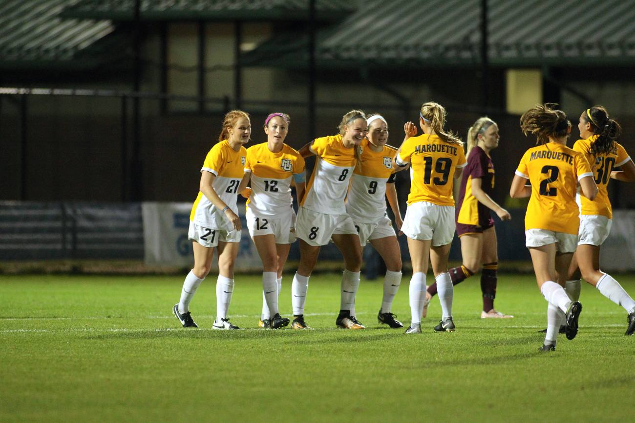 Kylie Sprecher scored her first career goal against the Chippewas