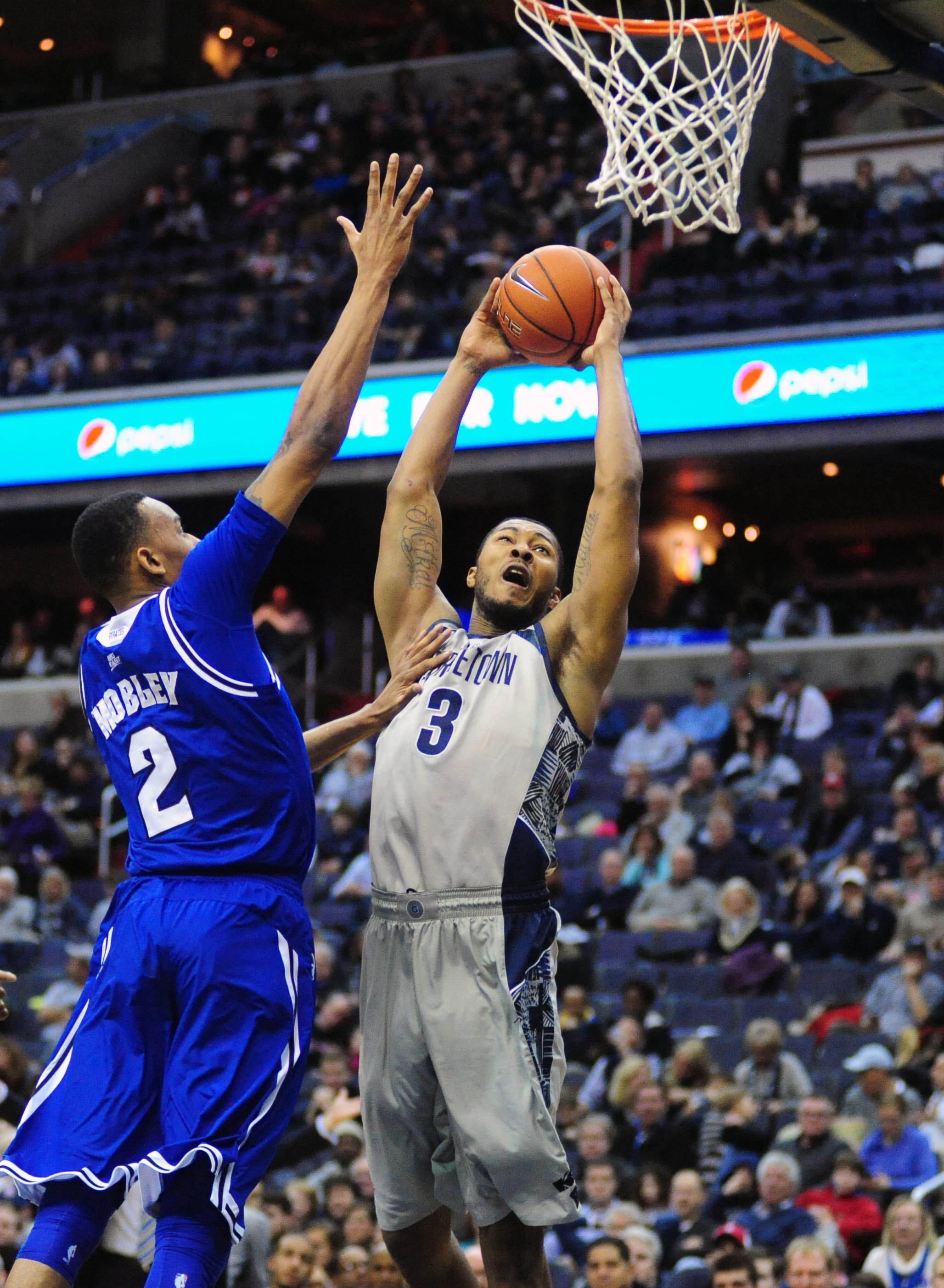 The Georgetown University men's basketball team closes out a weekend homestand on Monday, Jan. 20, hosting BIG EAST Conference rival Marquette.  Tip-off at Verizon Center is slated for 9 p.m.