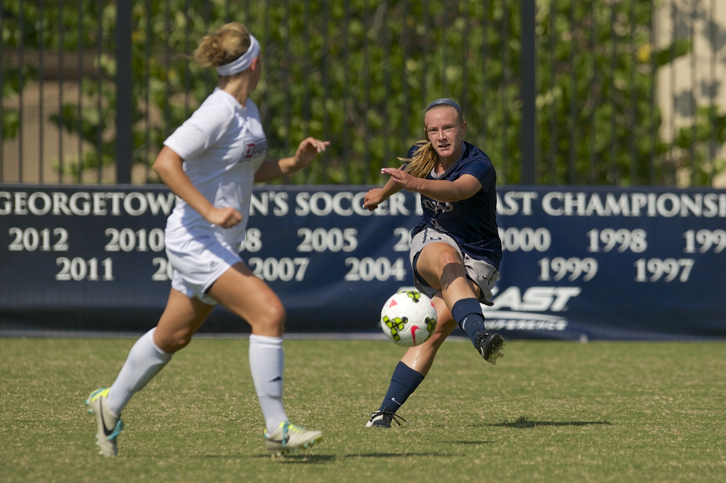 Senior Audra Ayotte scored in the 54th minute to help Georgetown beat Creighton, 1-0.