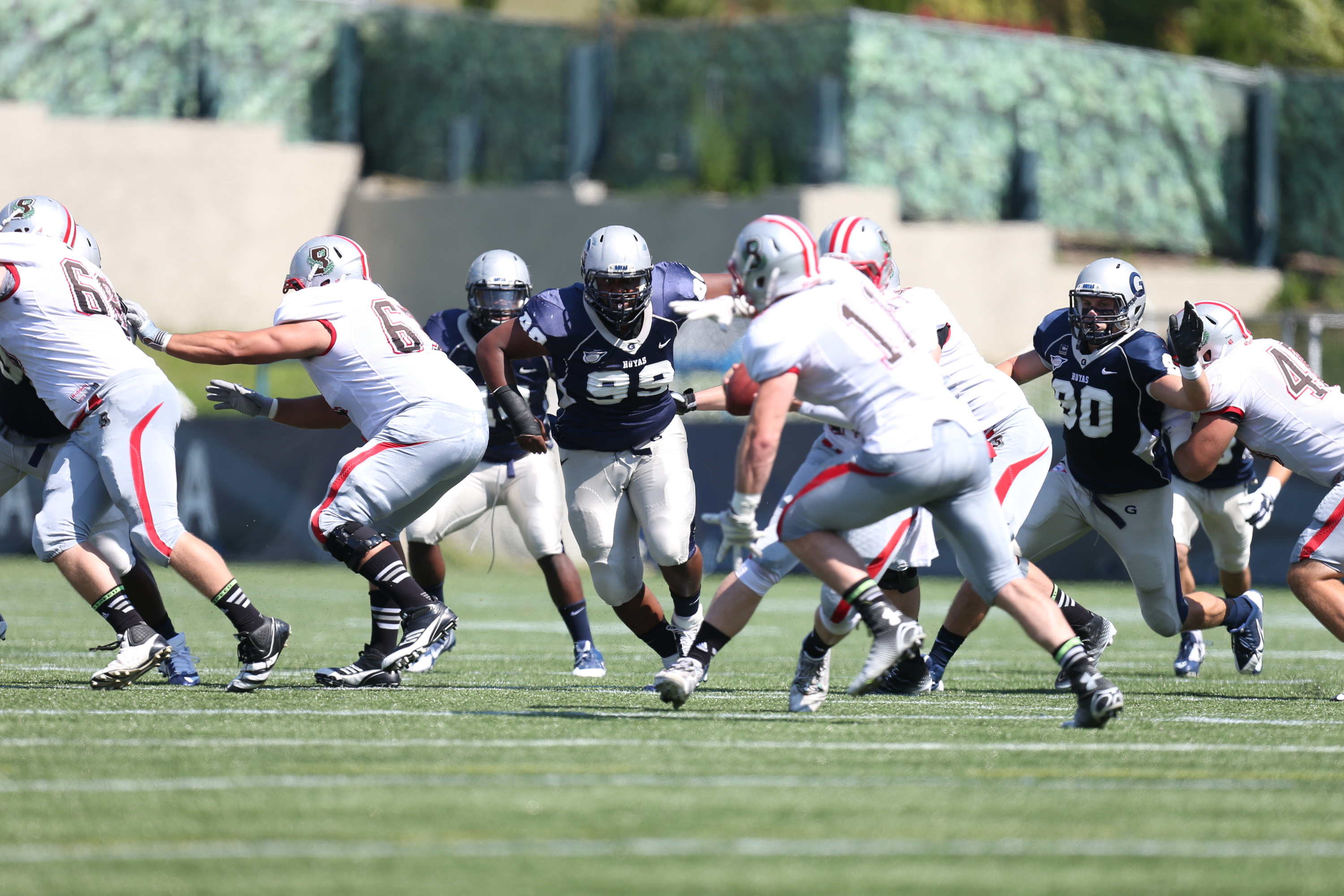The Hoyas defense will be charged with stopping the Bucknell offense for Homecoming.