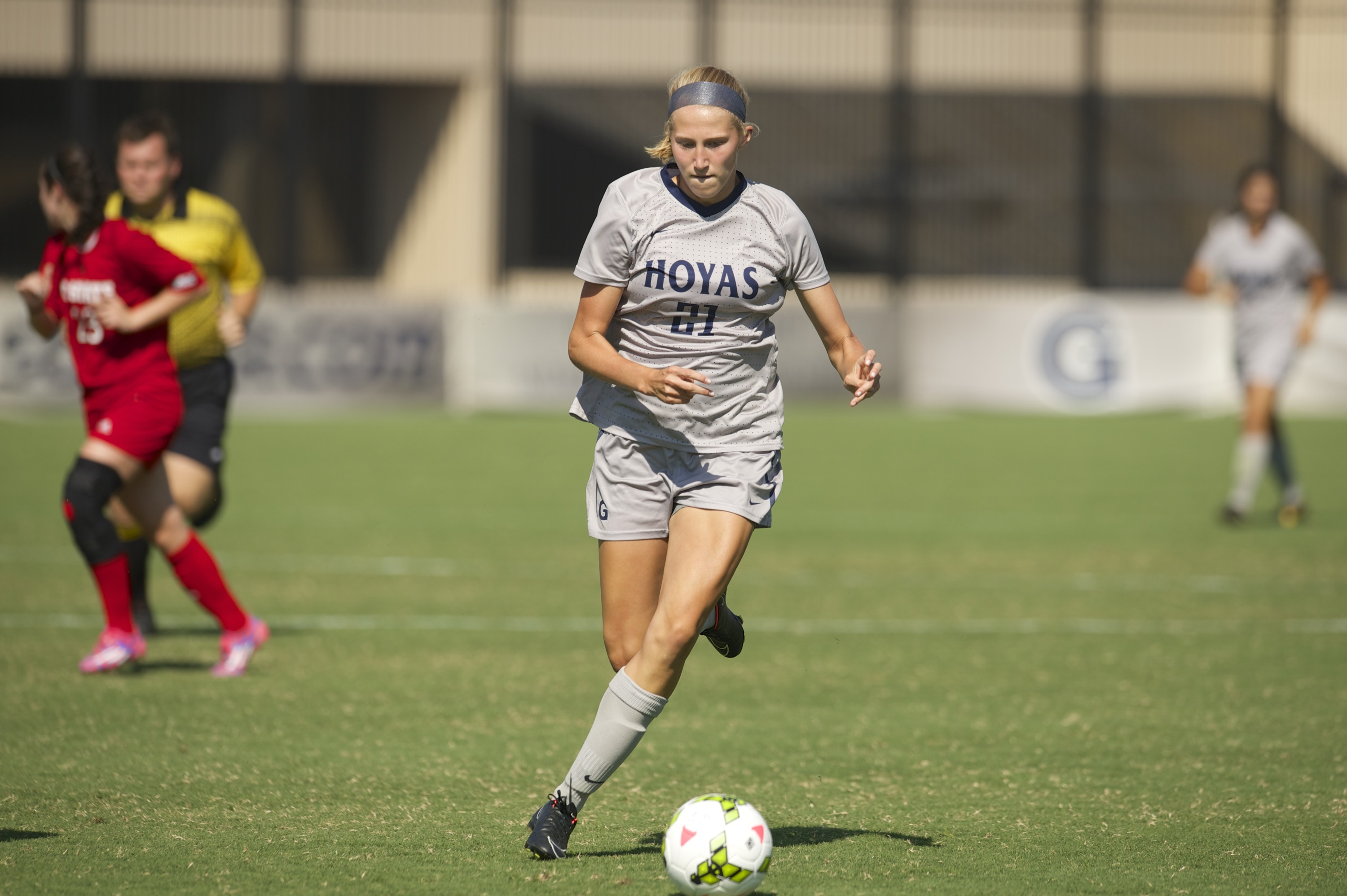 Georgetown University sophomore women's soccer player Grace Damaska was named the BIG EAST Offensive Player of the Week on Monday after helping to lead the Hoyas to a pair of wins over the weekend.