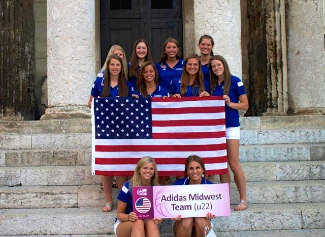 Caitlin Brauneis competed against 11 other teams from the U.S. and Europe in July
