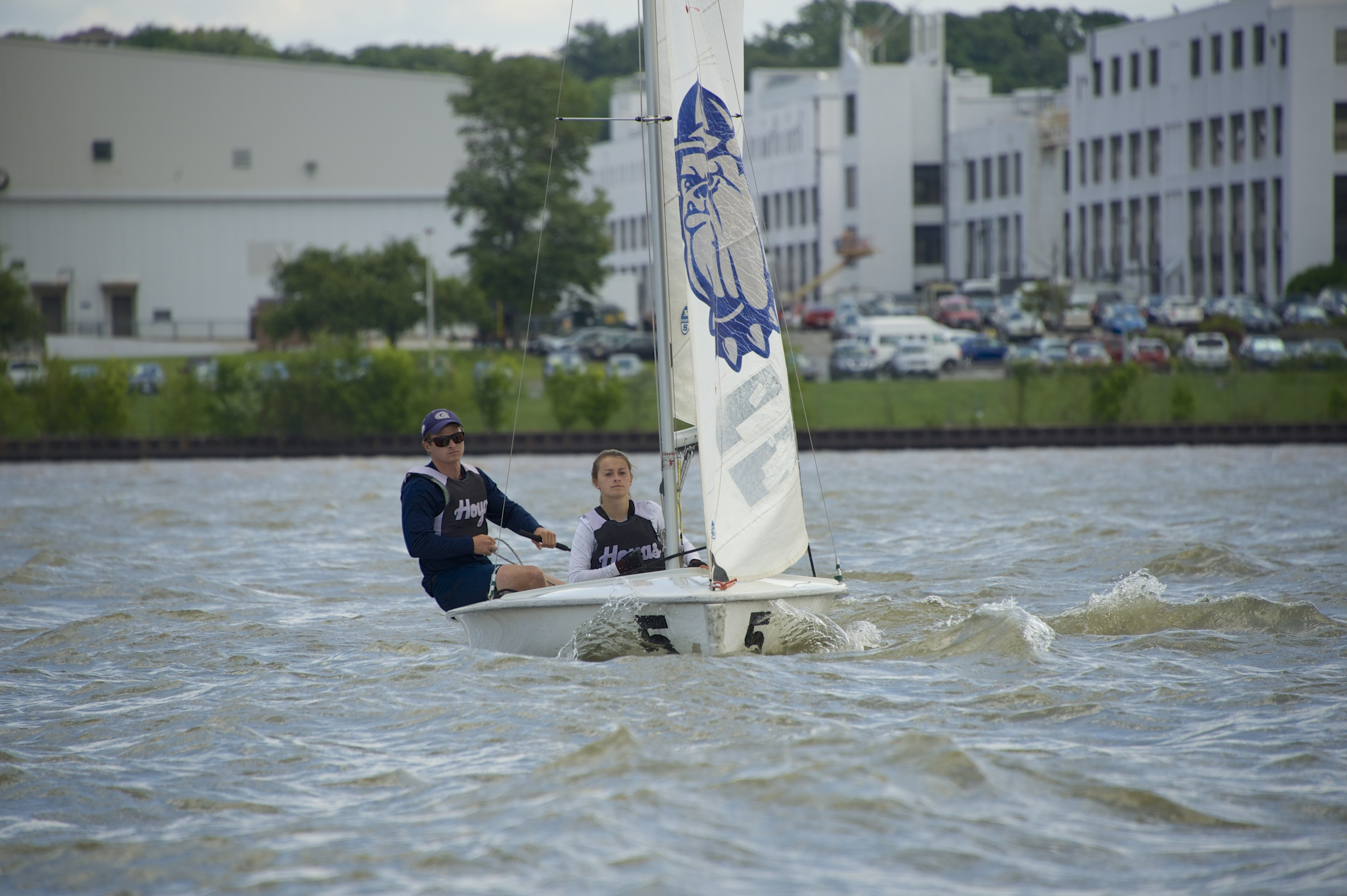 The Georgetown University sailing team is currently in sixth place in the APS Team Race National Championship.