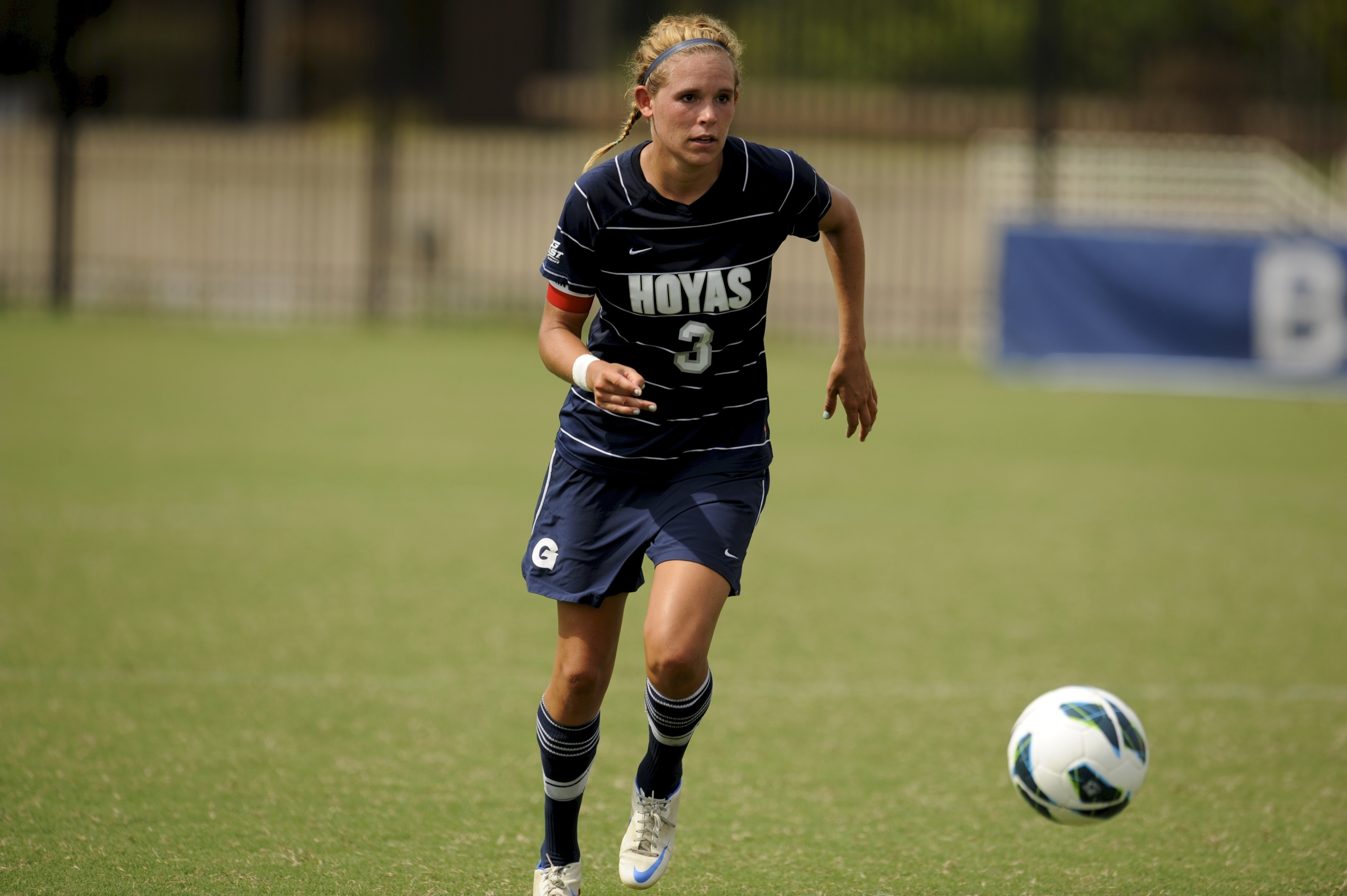 Former Hoya All-American Emily Menges joined the women's soccer team as a volunteer assistant coach.