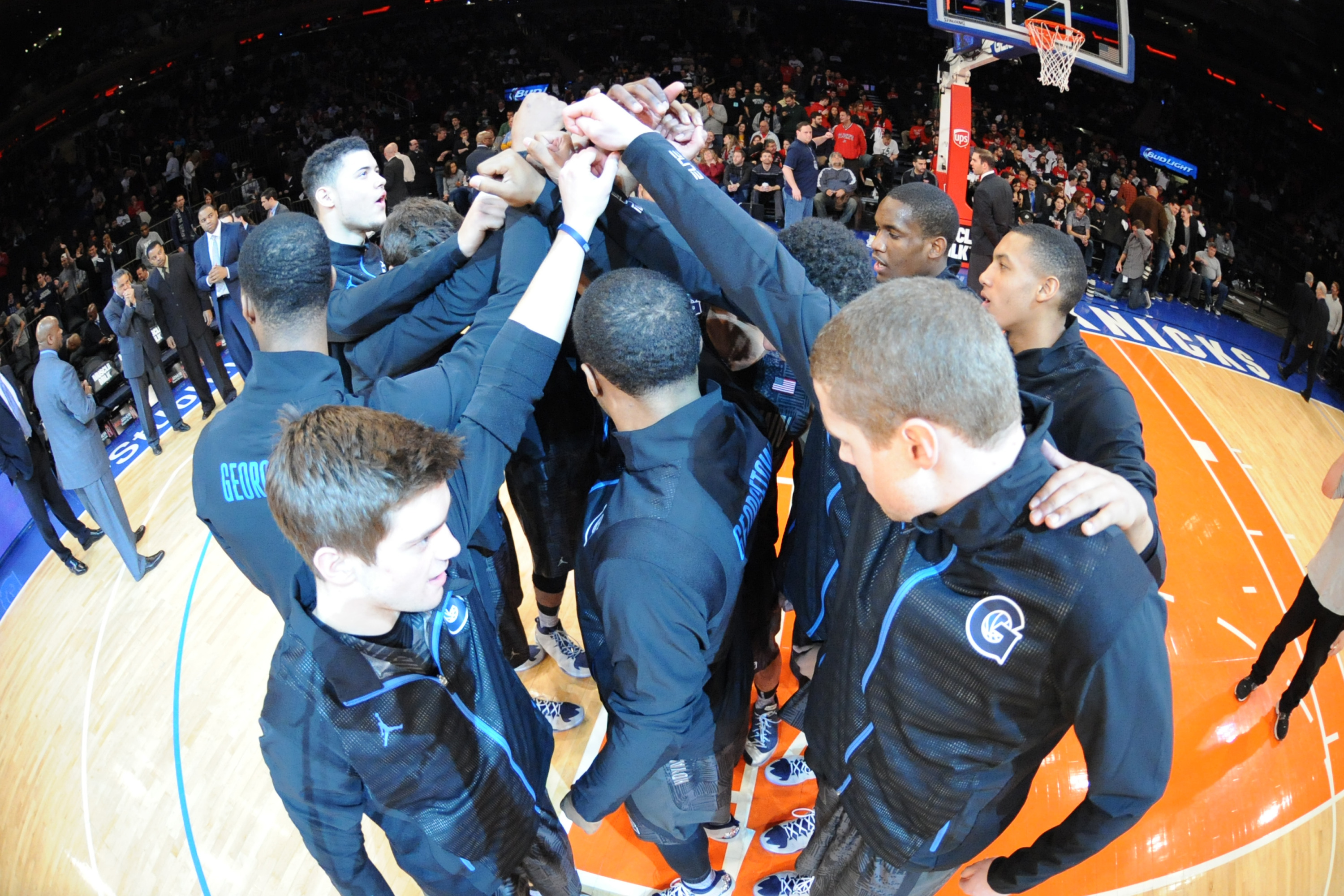Highlighted by a trip to the Bahamas, a game at Madison Square Garden in New York City, 16 games at Verizon Center, including one against perennial national power Kansas and nine against BIG EAST Conference opponents, the Georgetown University men's basketball schedule for the 2014-15 season was released on Tuesday afternoon.