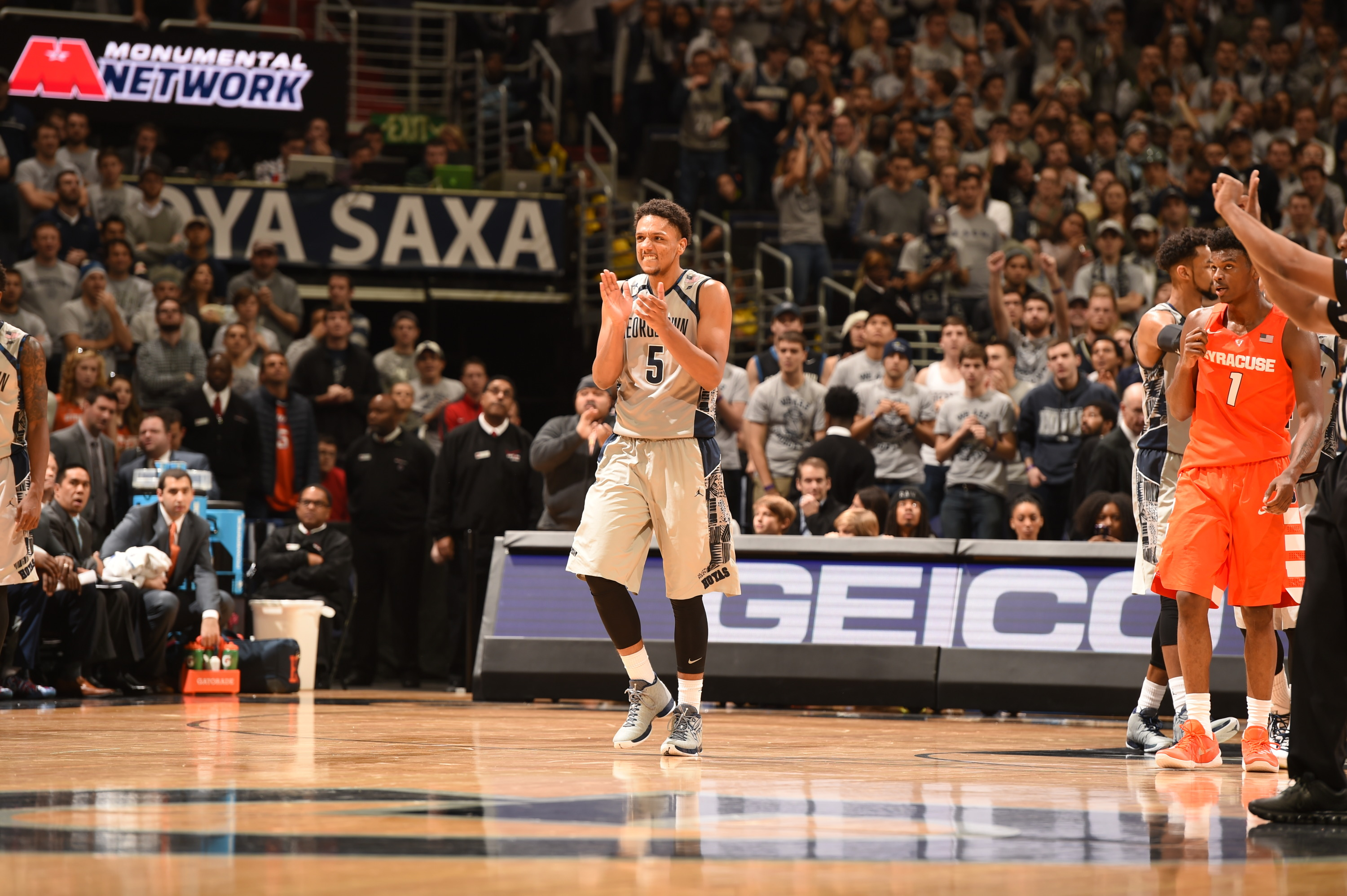 The Georgetown University men's basketball team will be back on the hardwood on Saturday, Dec. 12, hosting UNC Wilmington at Verizon Center.  Tipoff is slated for 2:30 p.m.