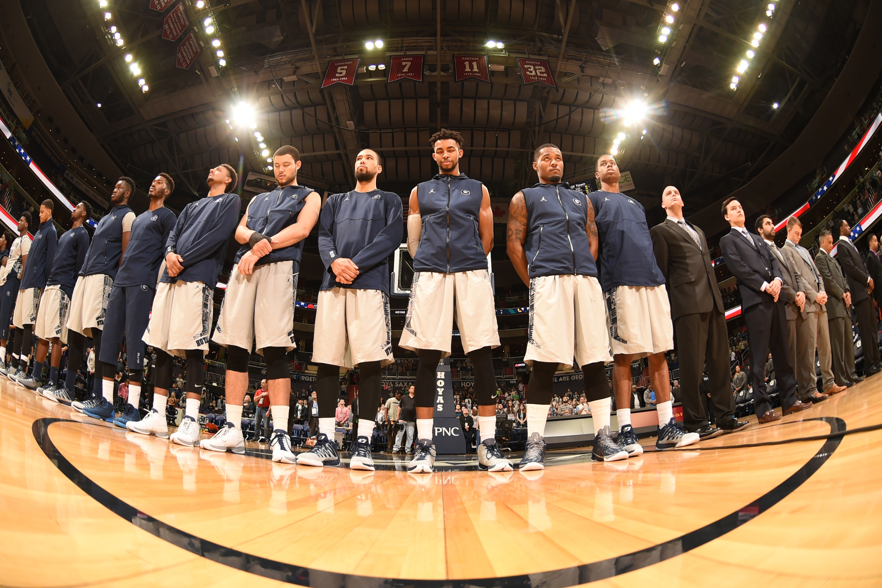 The Georgetown University men's basketball team plays the sixth game of a seven-game home stand on Tuesday, Dec. 15, hosting Monmouth at Verizon Center.  Tipoff at the team's downtown home is slated for 7:30 p.m.