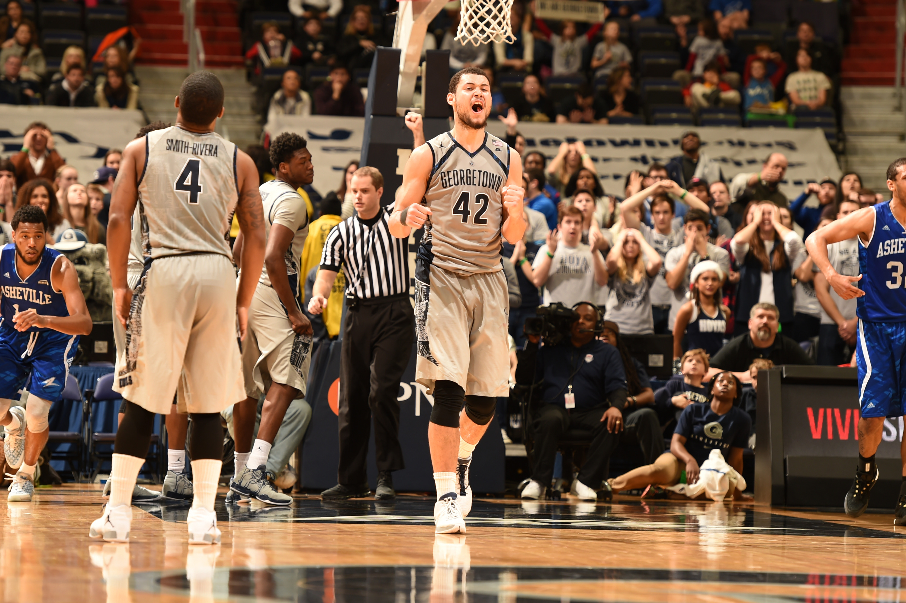 The Georgetown University men's basketball team hit the road today as the Hoyas travel to play at Charlotte on Tuesday, Dec. 22 at Time-Warner Arena.  Tipoff is slated for 7 p.m.