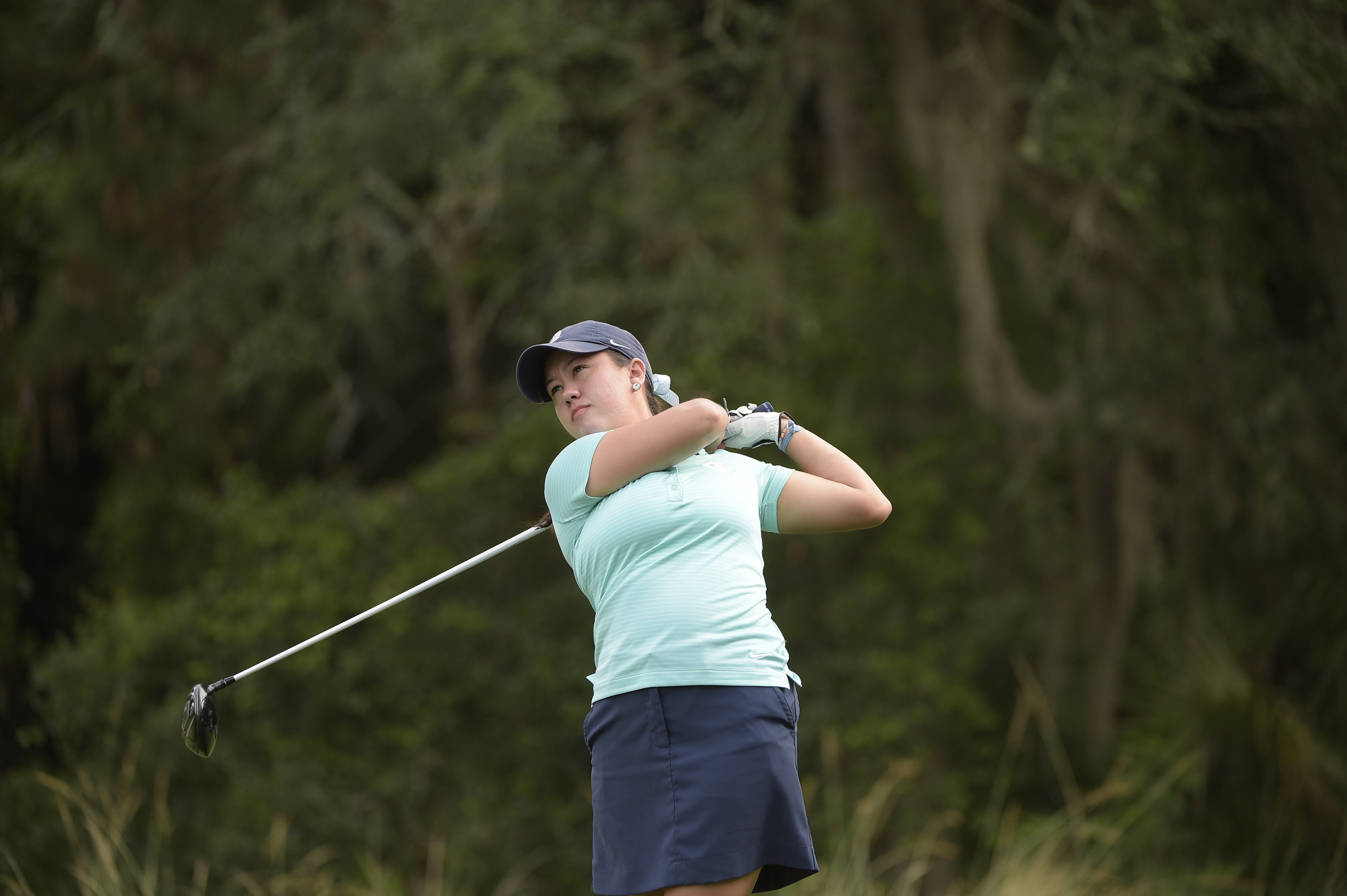 The Georgetown University women's golf team shot a 12-over par 300 in the second round and enters the final round of play at the BIG EAST Championship one stroke off the pace of Seton Hall and Xavier, who are tied for first place.