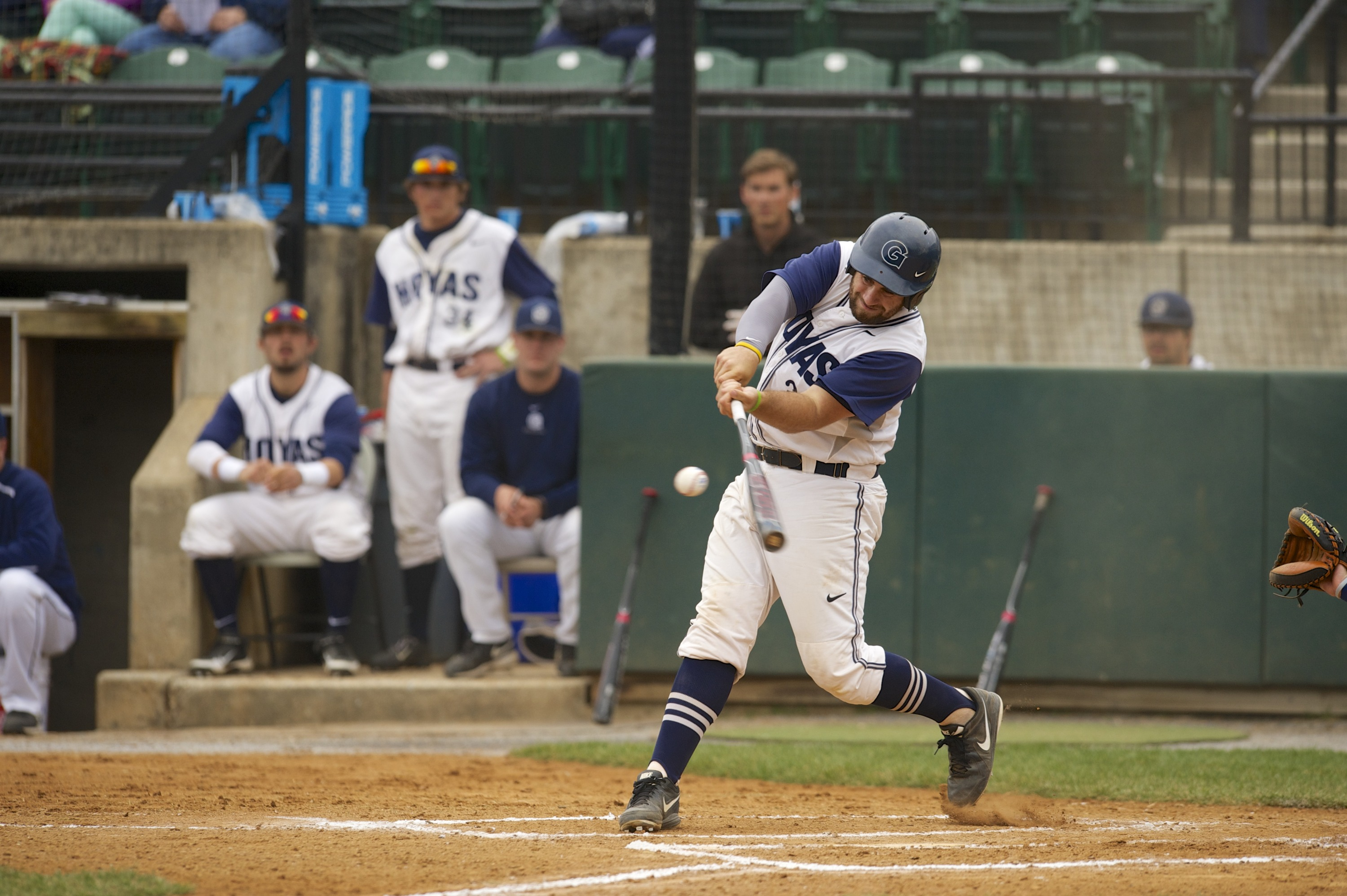 The Hoyas only managed nine hits on the day, led by three from Nick Collins.