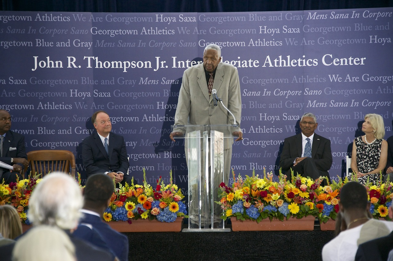 The United States Basketball Writers Association (USBWA) announced today that former Georgetown coach John Thompson has been selected as the first winner of the Dean Smith Award, named in honor of the legendary North Carolina coach.