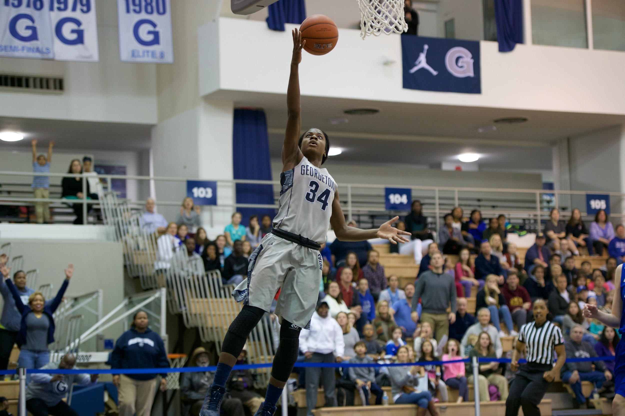 Dorothy Adomako finished with game highs of 19 points and nine rebounds.