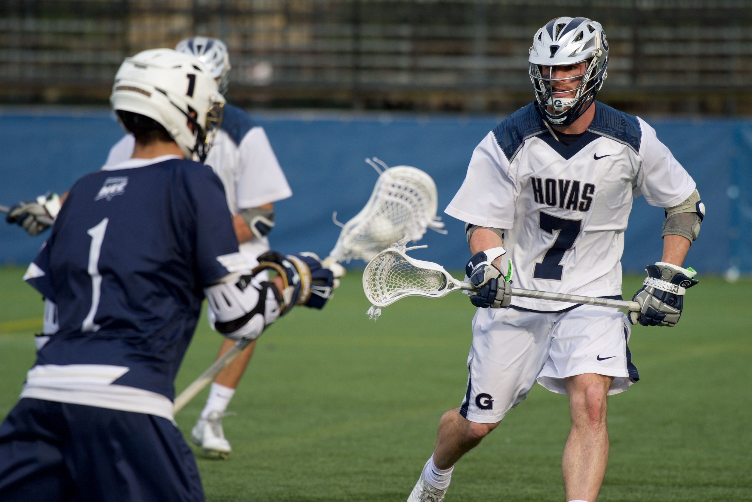 Nick Carpenter leads the Hoyas with five caused turnovers.