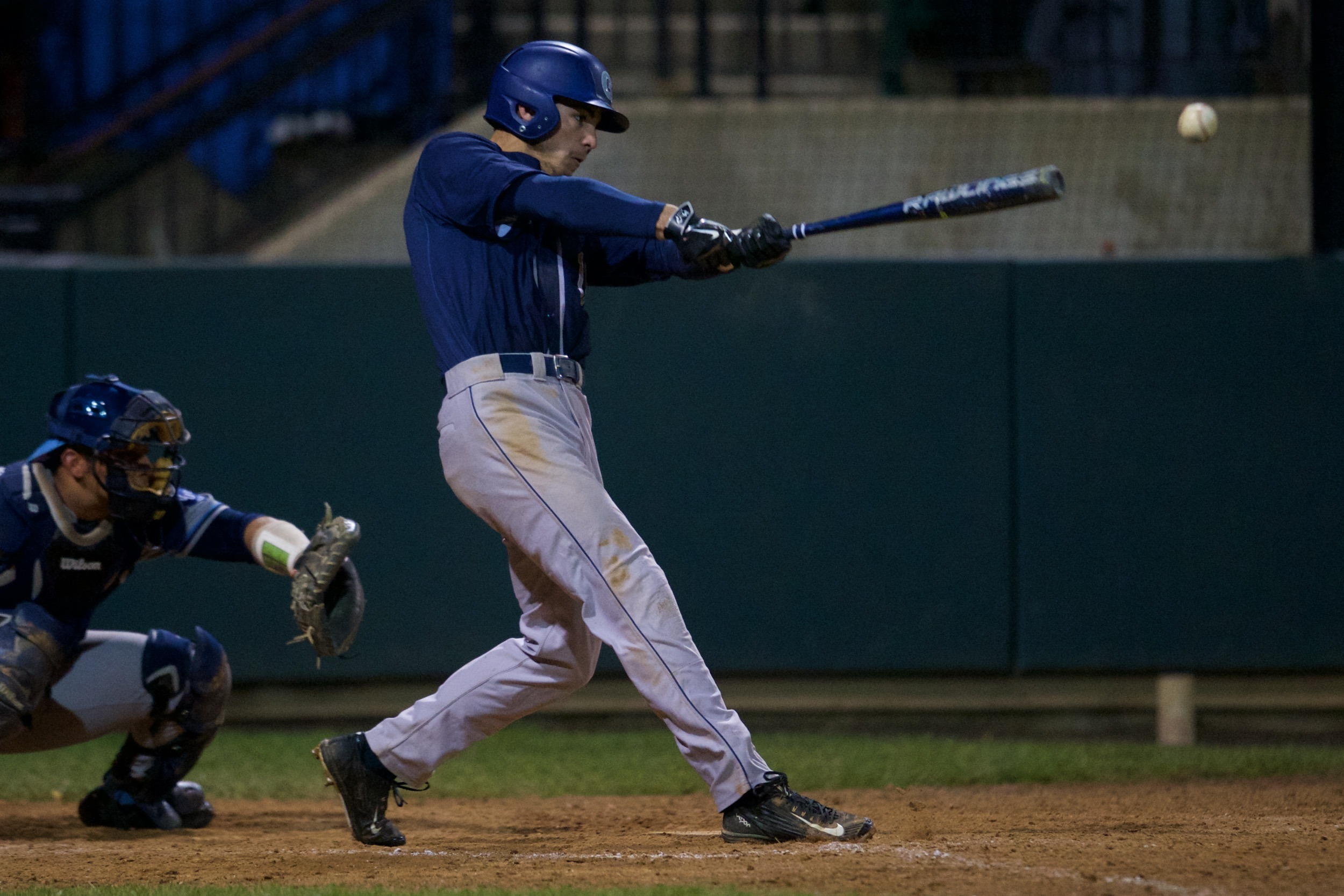 Michael DeRenzi was on base all five times, stole two bases and scored two runs.