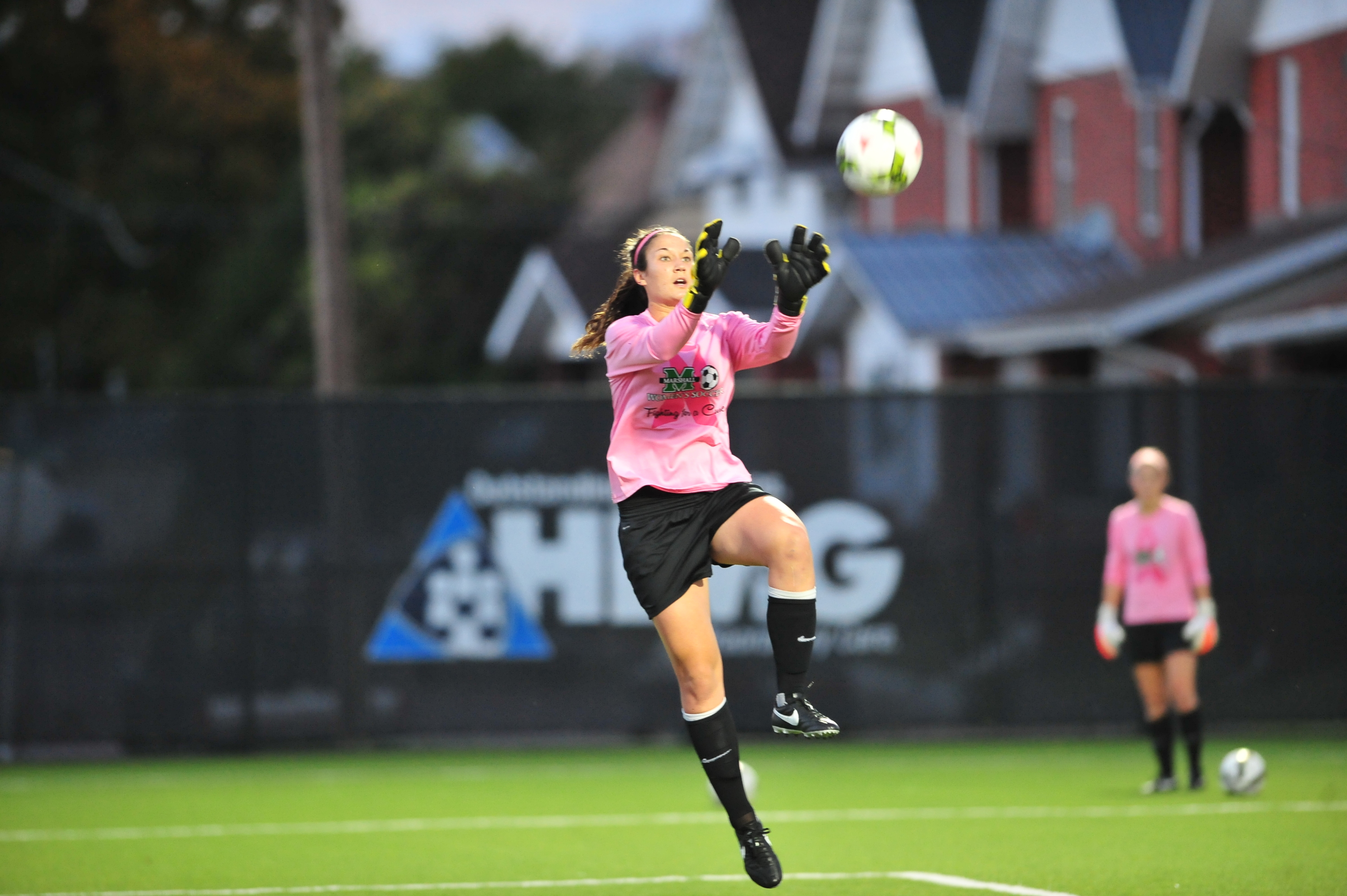 Lizzie Kish made four saves for the Herd.