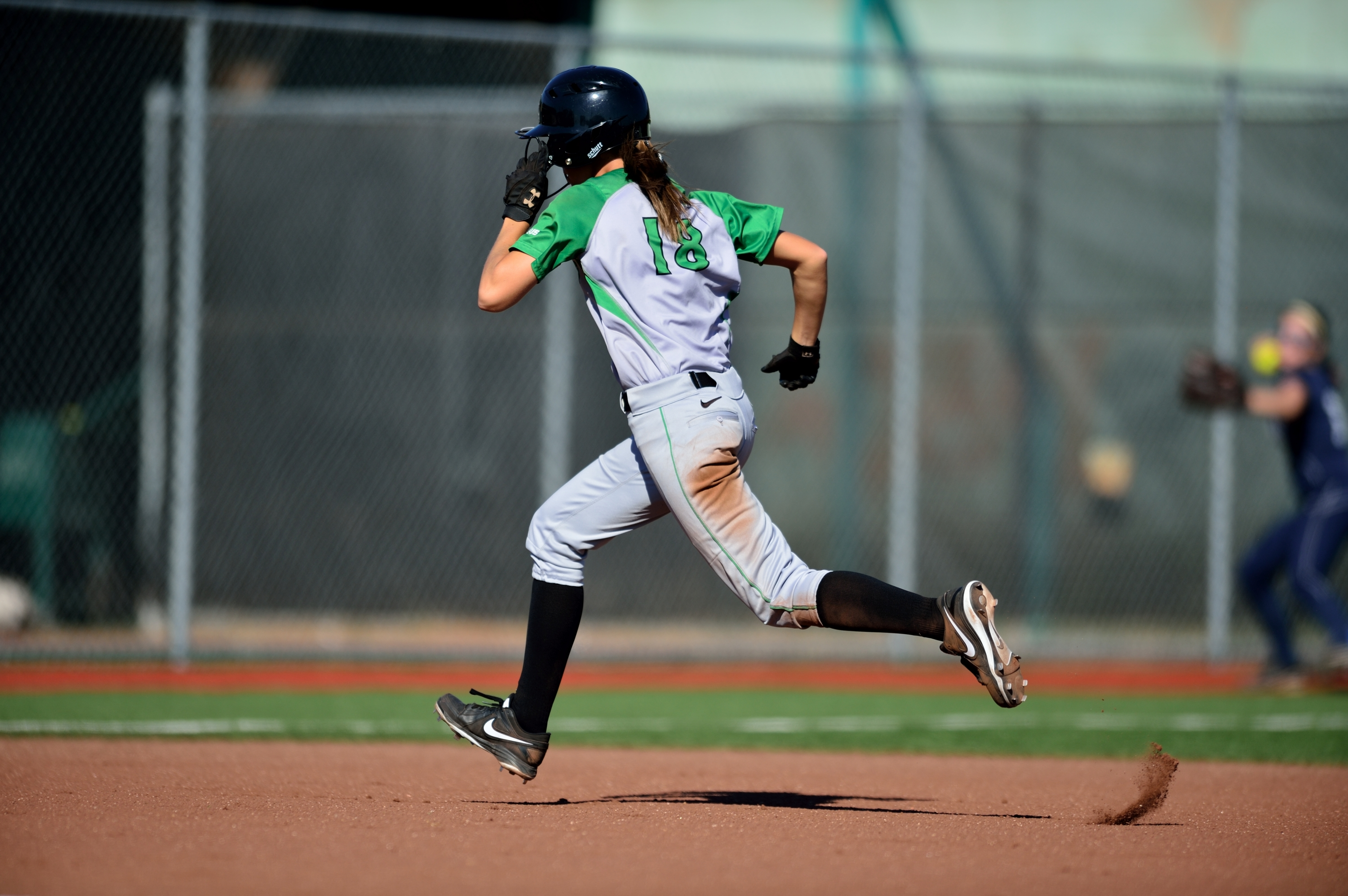 Zerkle hit her first out-of the park ome run Saturday