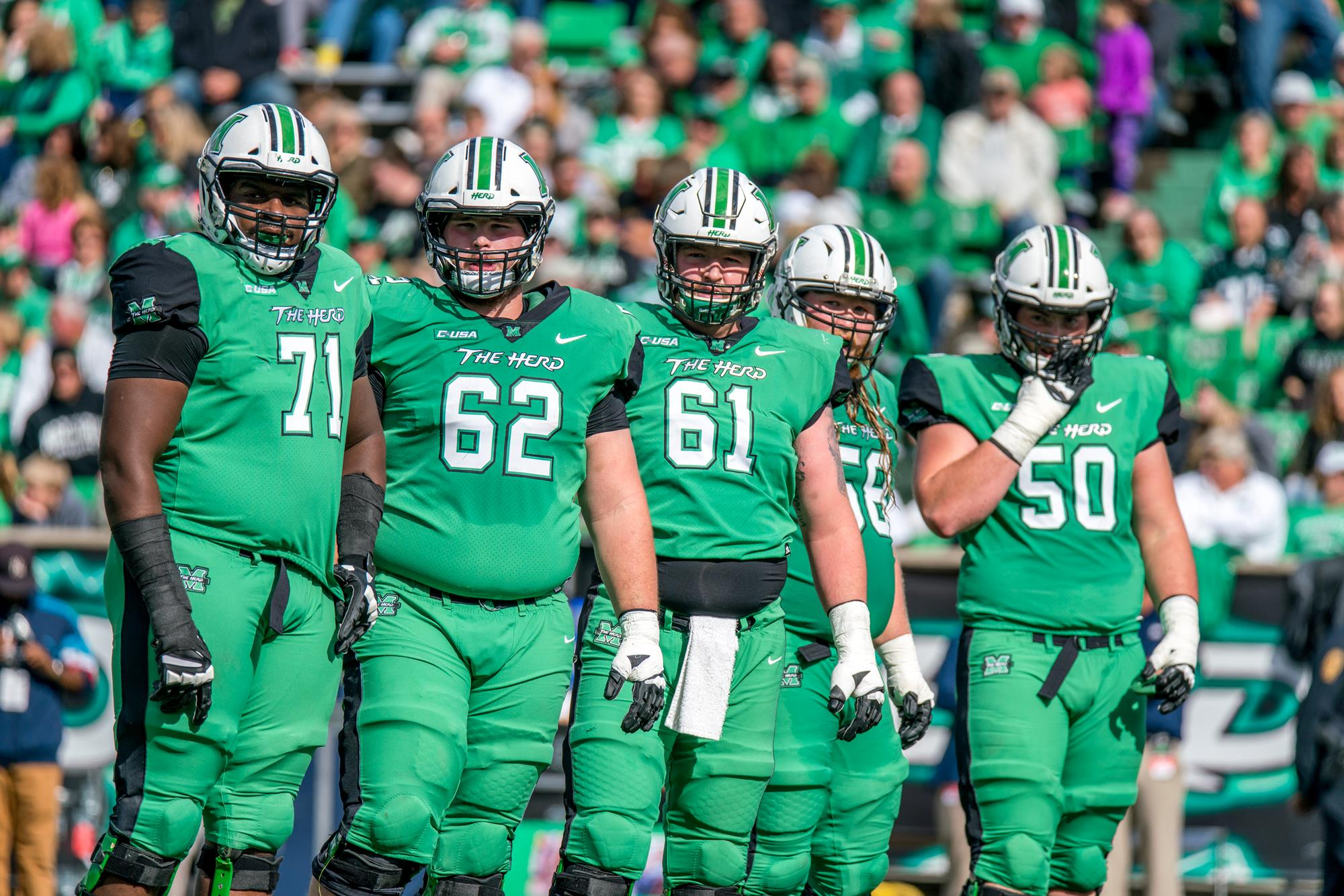 Mcgill Herd Offensive Line Readies For Usf S Multiple Look