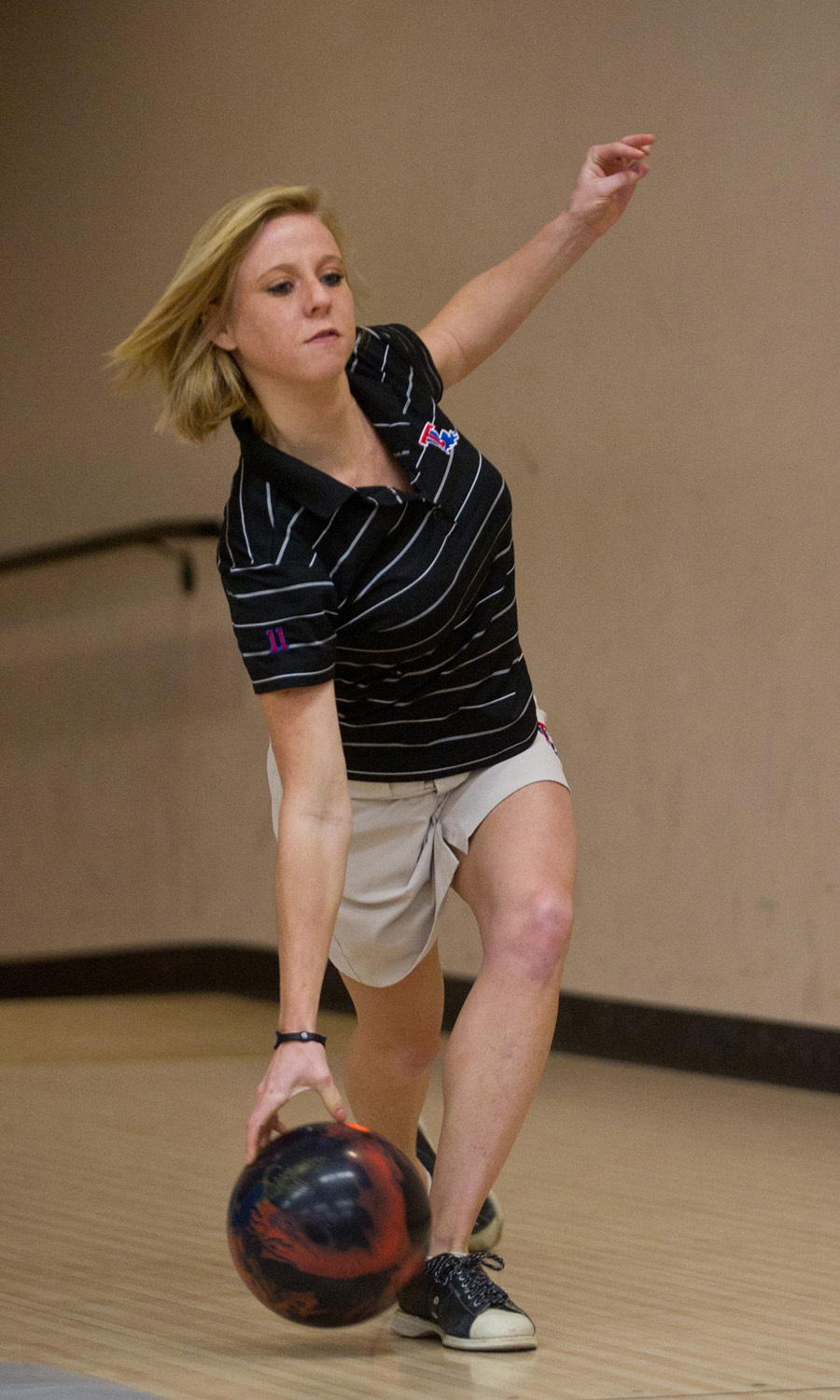 Senior Houston Granger leads the Lady Techsters with an average pinfall of 188.0