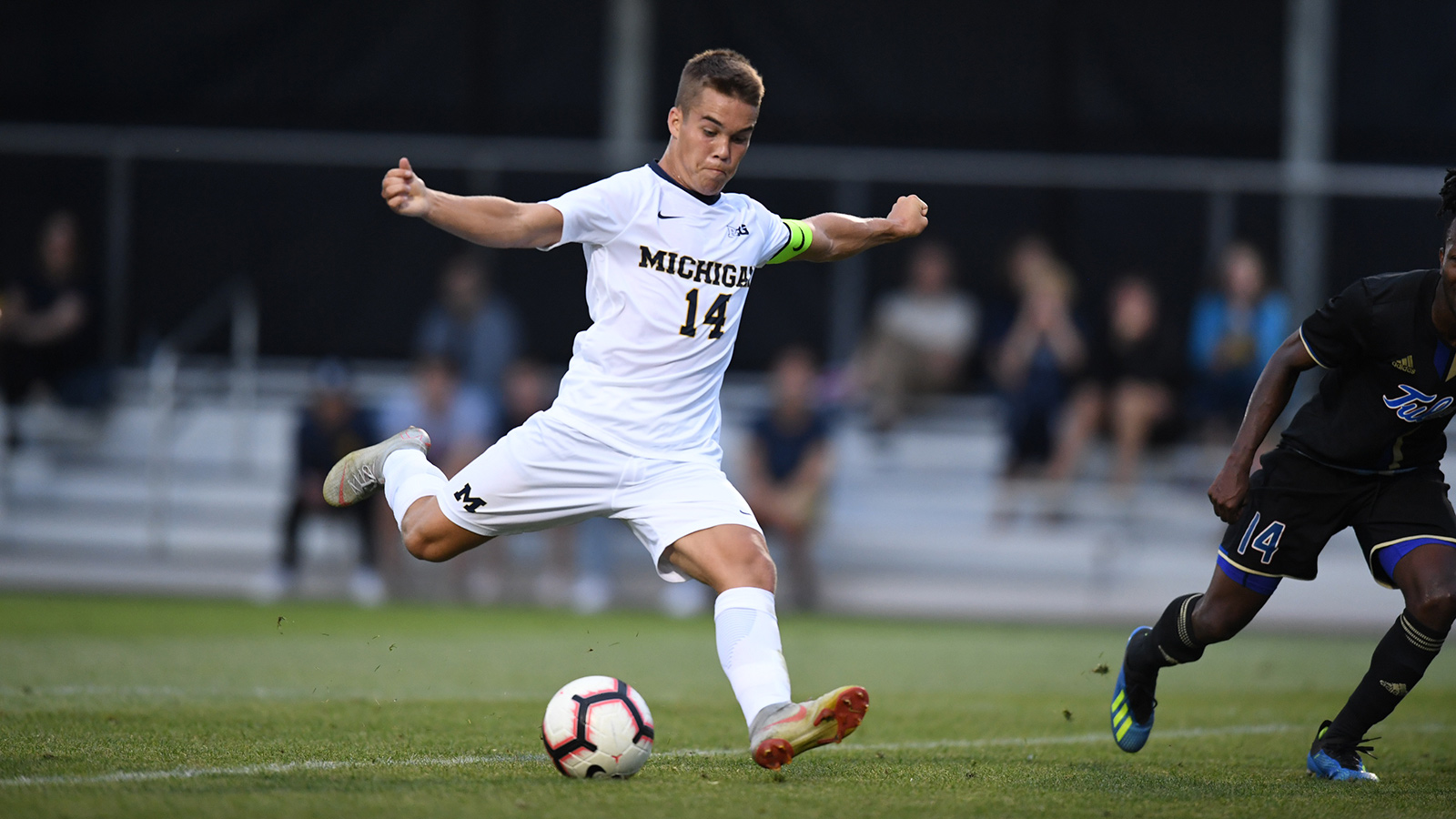 men s soccer falls to tulsa in home opener university of michigan