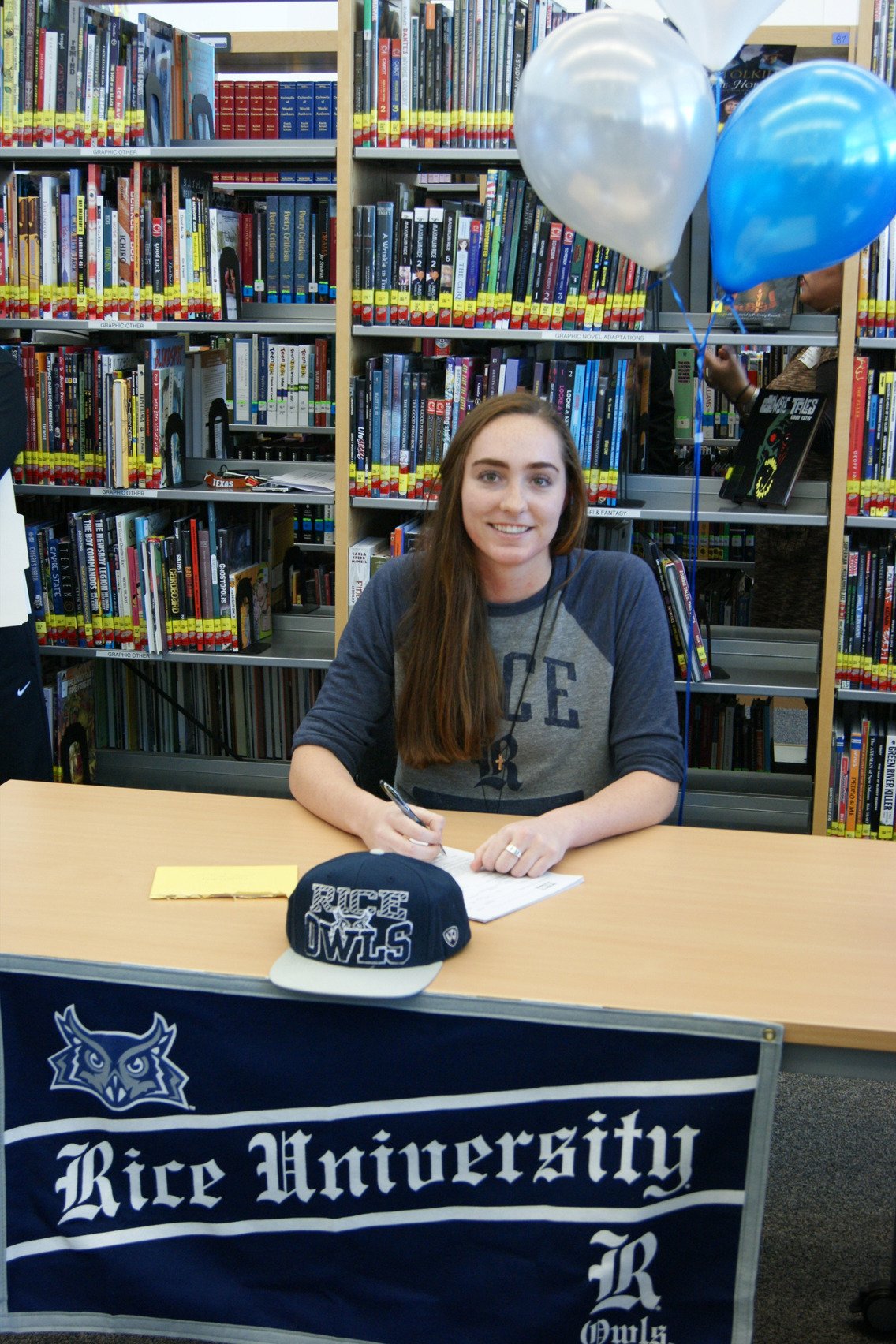 Courtney Brown was one of three student-athletes the Owls signed on Wednesday.