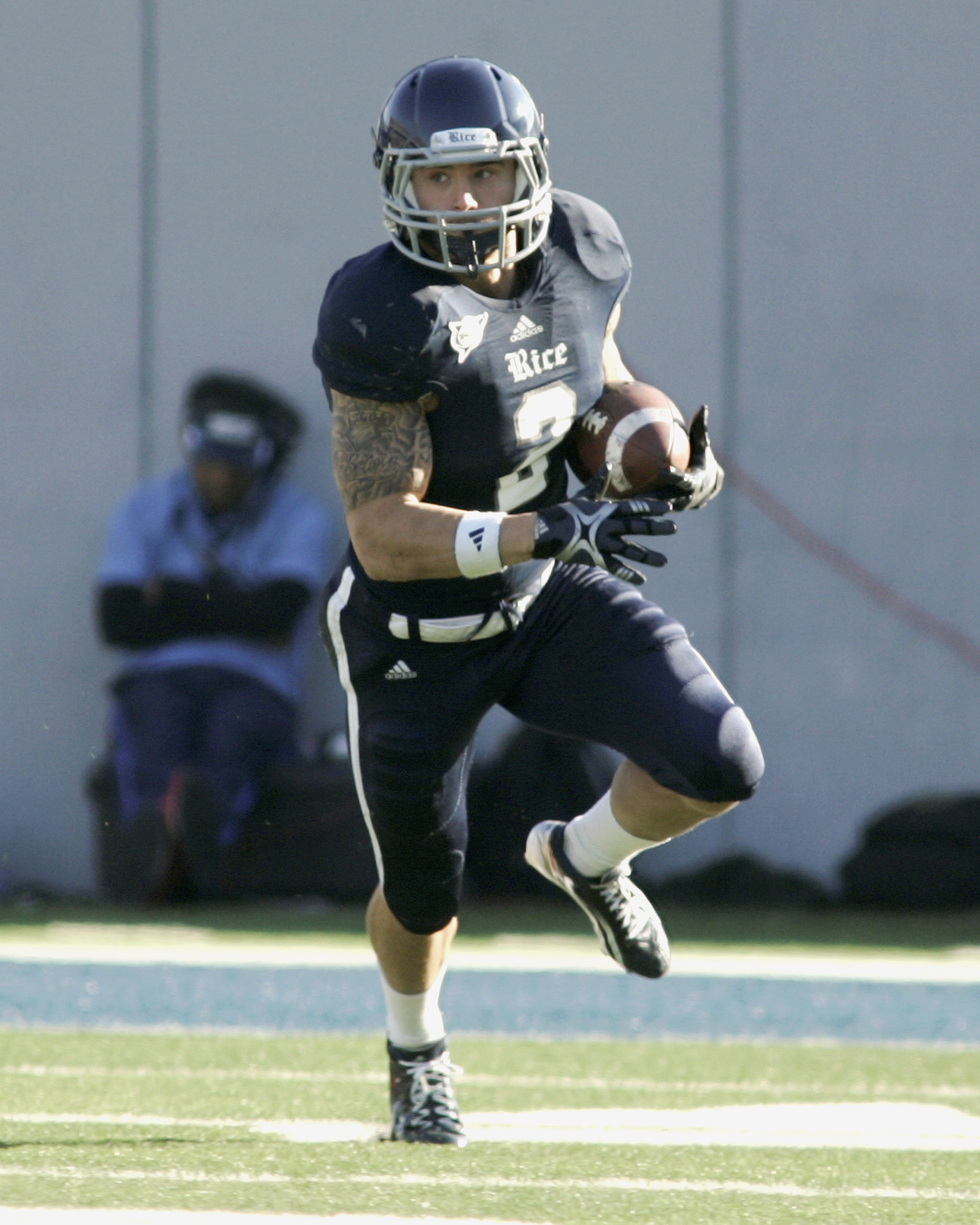 McGuffie gained more than 2,000 yards and scored 14 touchdowns as an Owl.