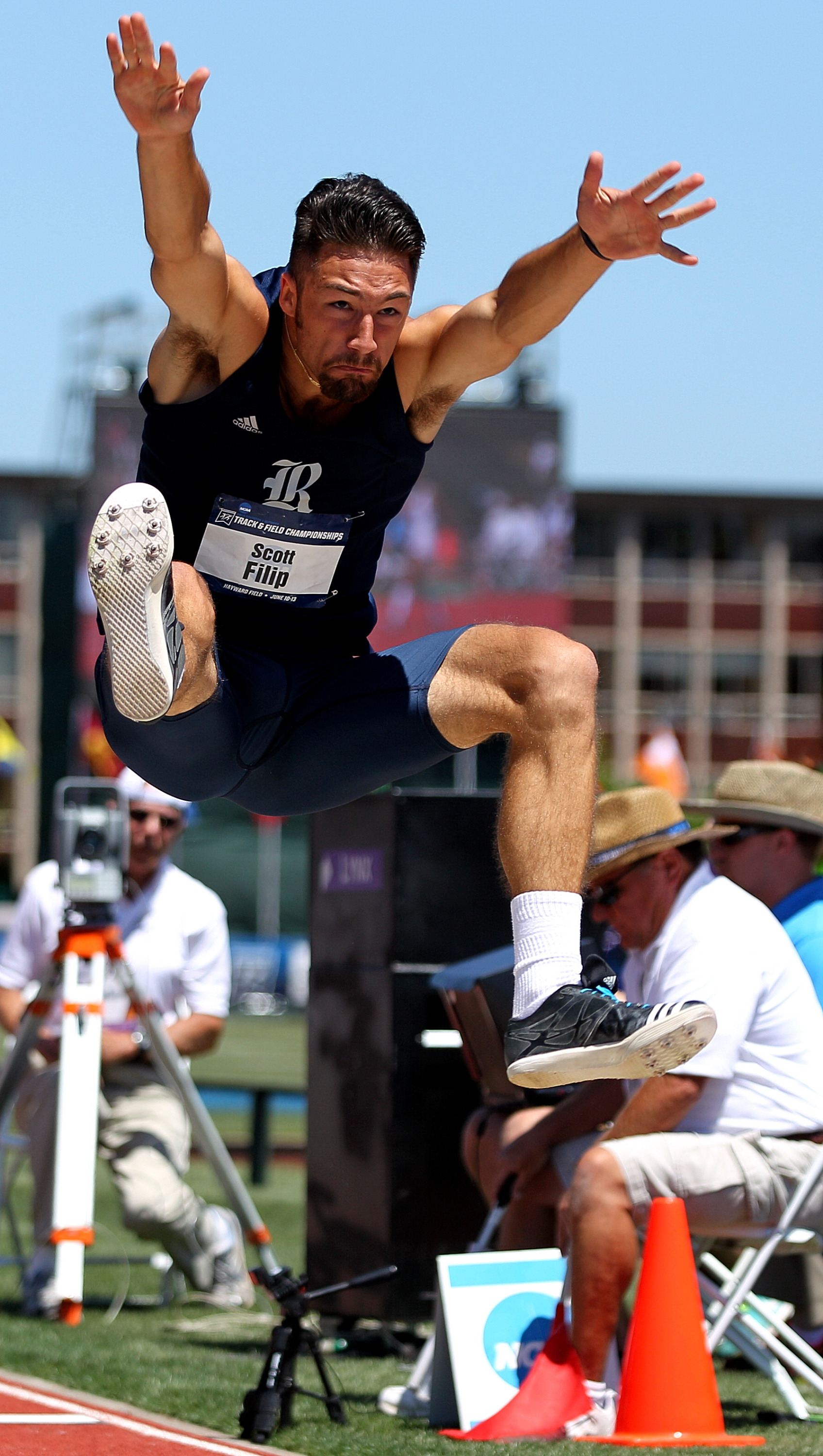 Scott Filip placed 8th in the decathlon at the NCAA Outdoor Championships.
