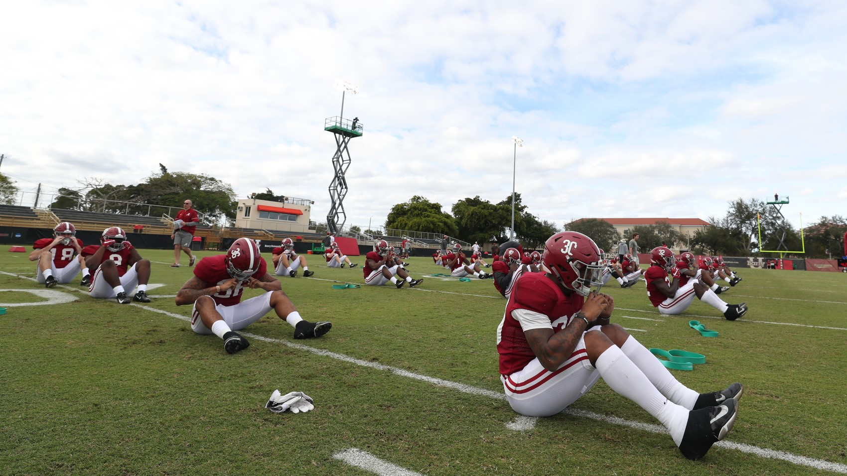 christmas day practice continues football s schedule for orange bowl