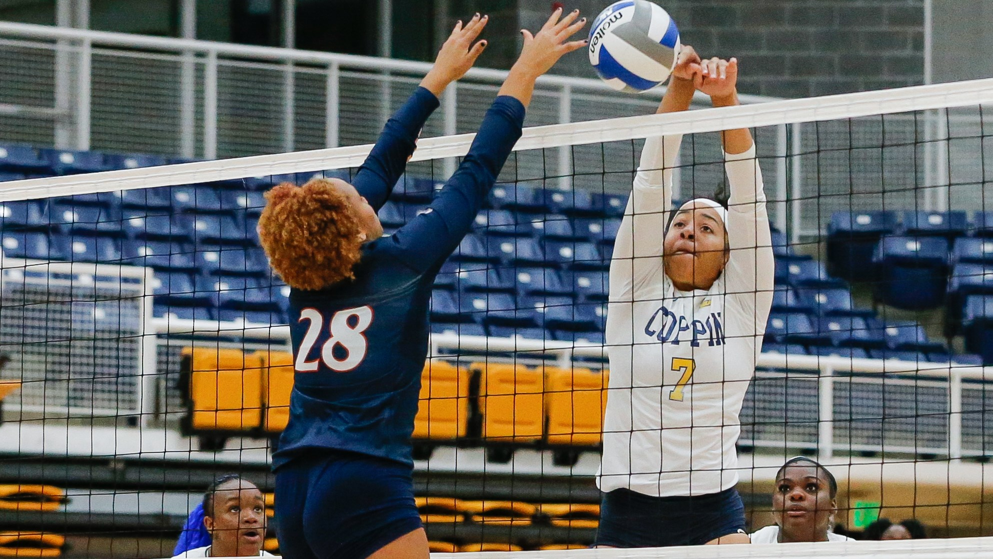 Johnson with block against Morgan State
