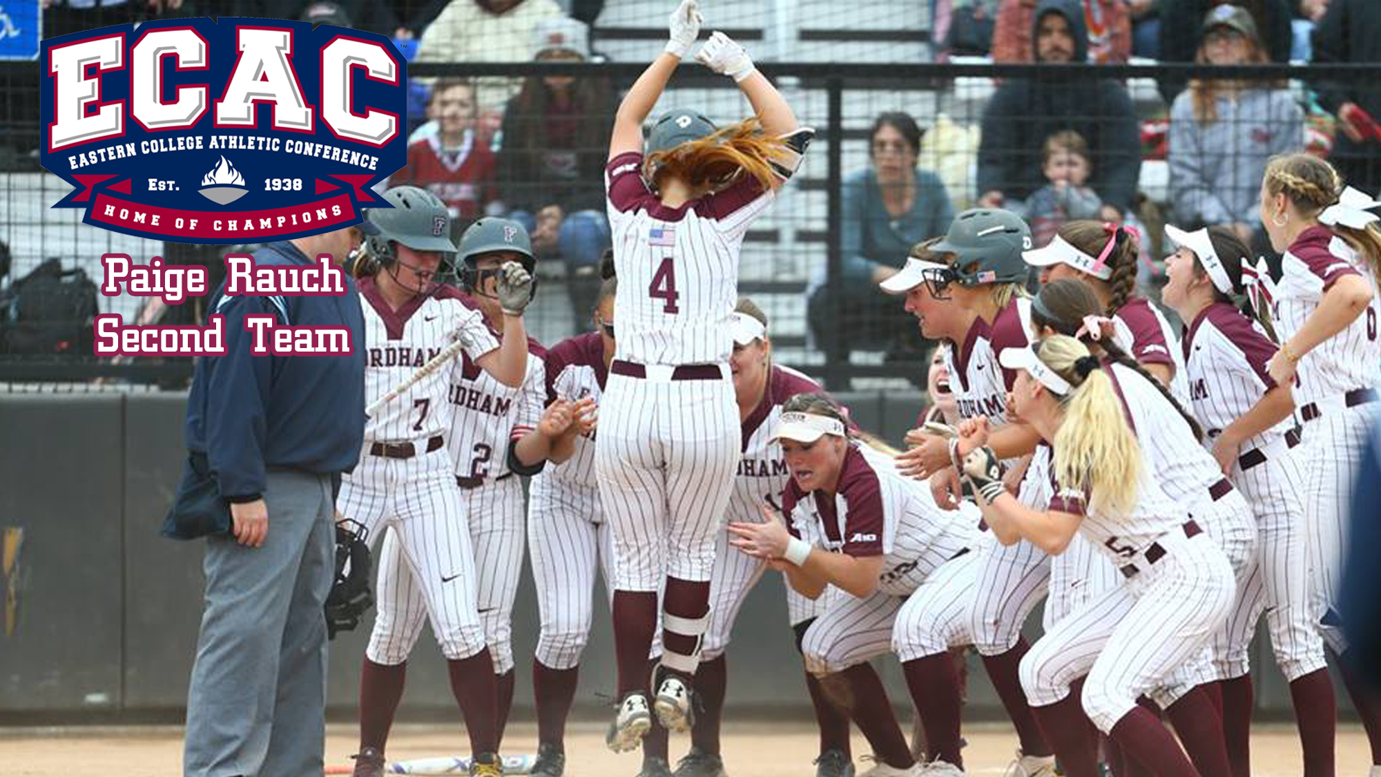 rauch named to ecac second team fordham athletics