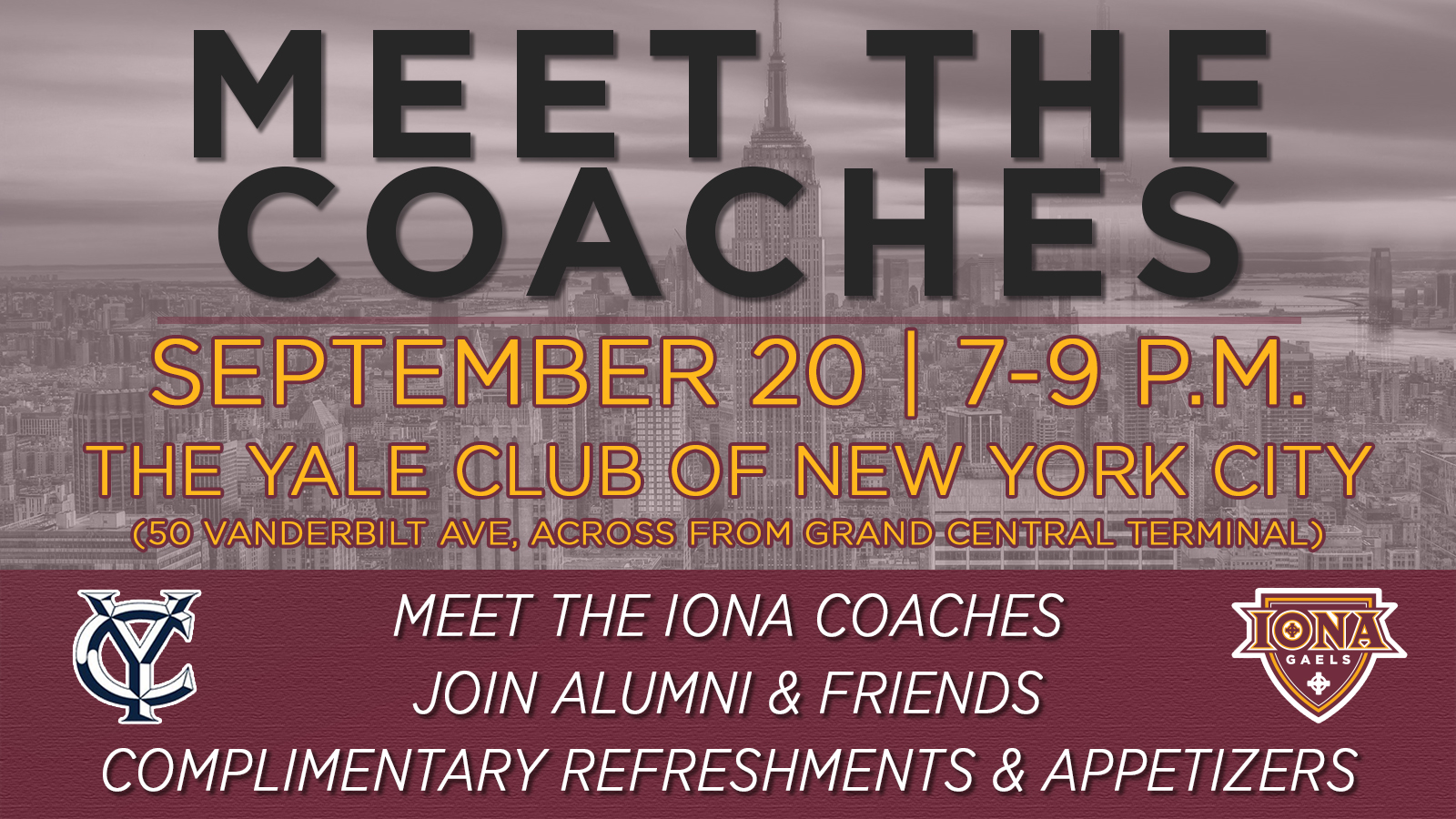 Iona College Athletics To Host Meet The Coaches Event Iona