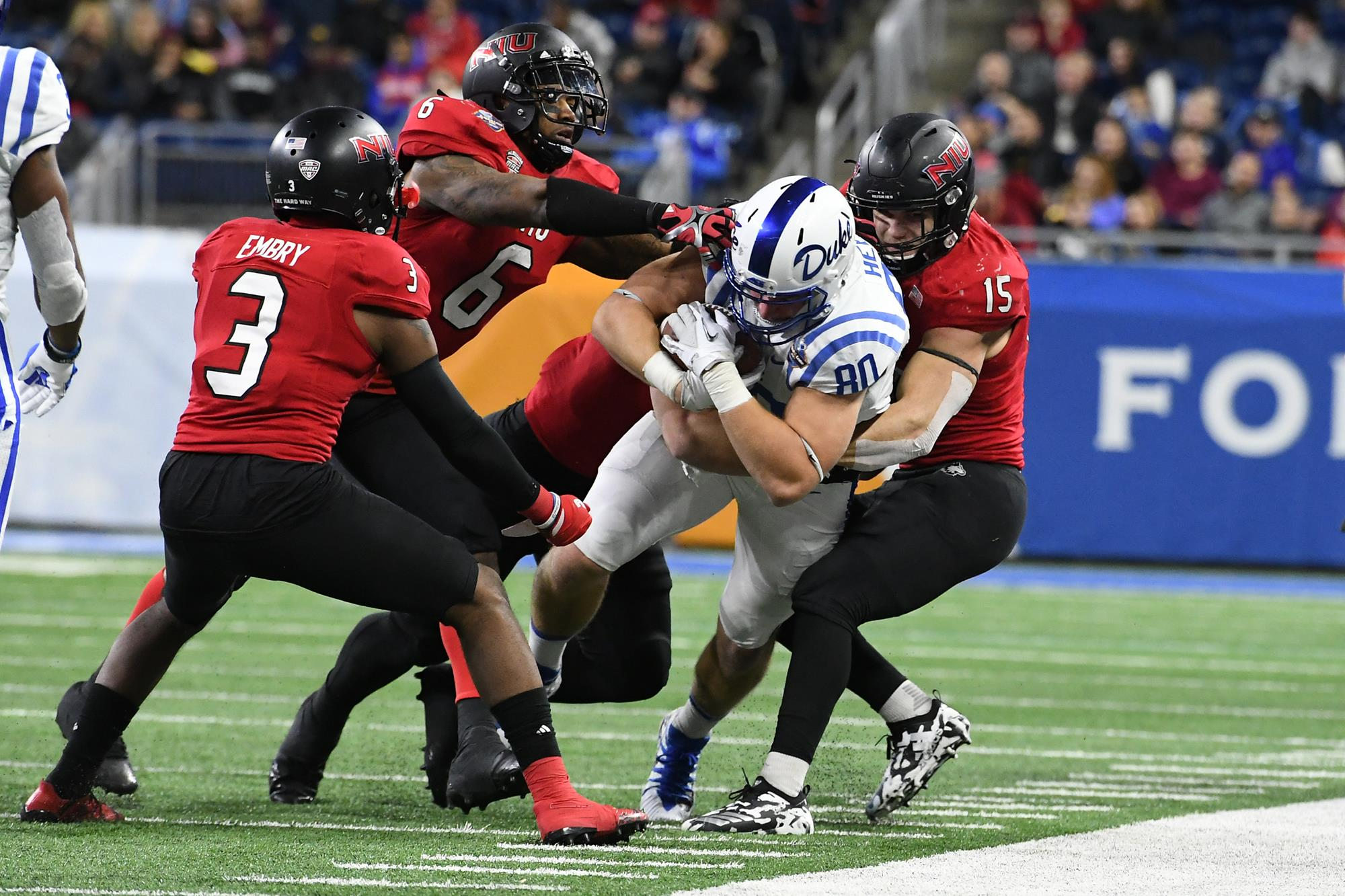 Niu Falls To Duke In 2017 Quick Lane Bowl 36 14 Niu Athletics