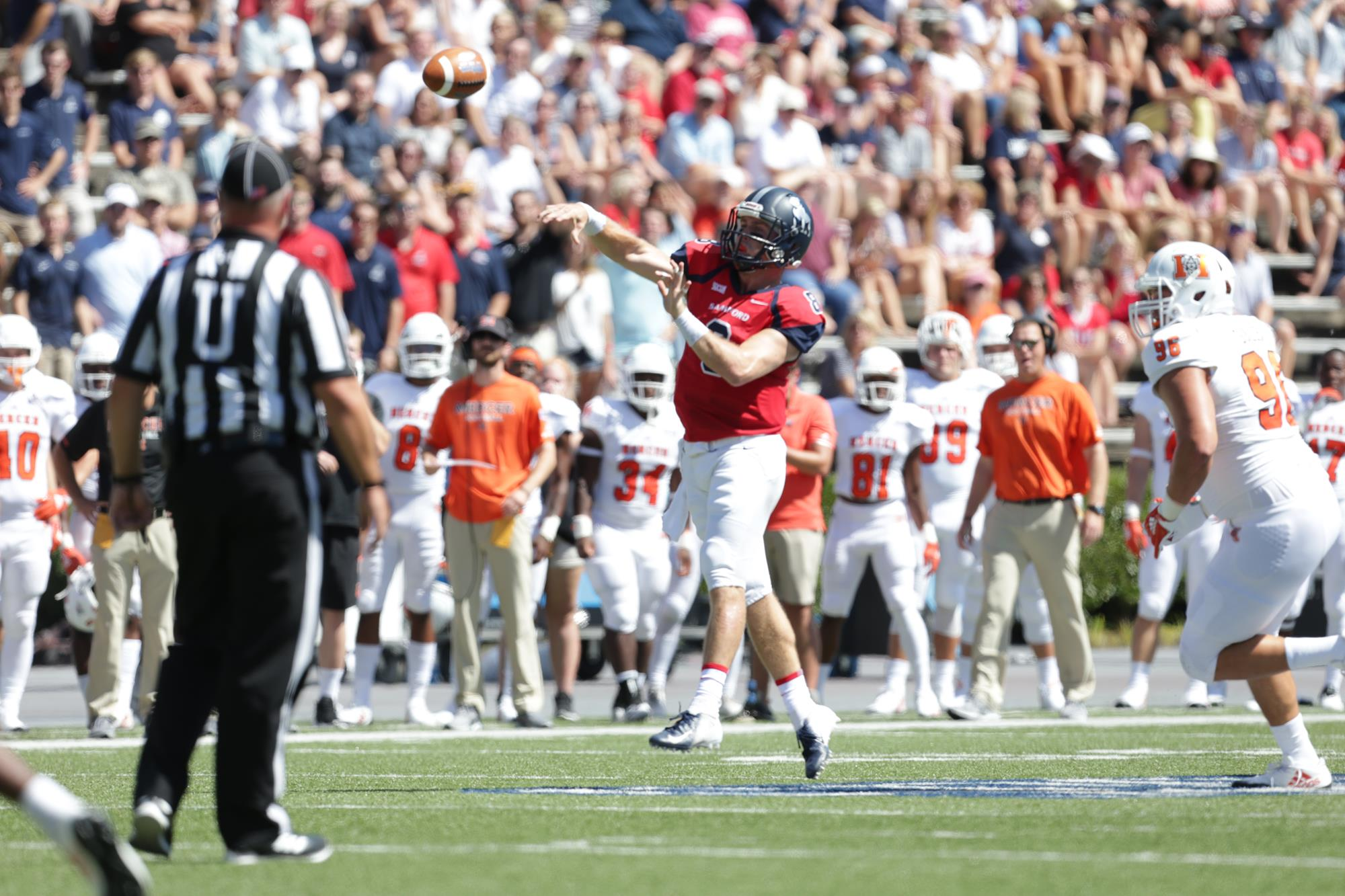 Football Opens Socon Play With 30 24 Setback To Mercer Samford
