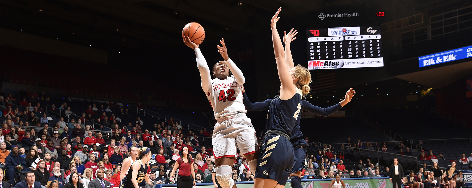 udwbb stays unbeaten in a-10 with win over gw - university of dayton