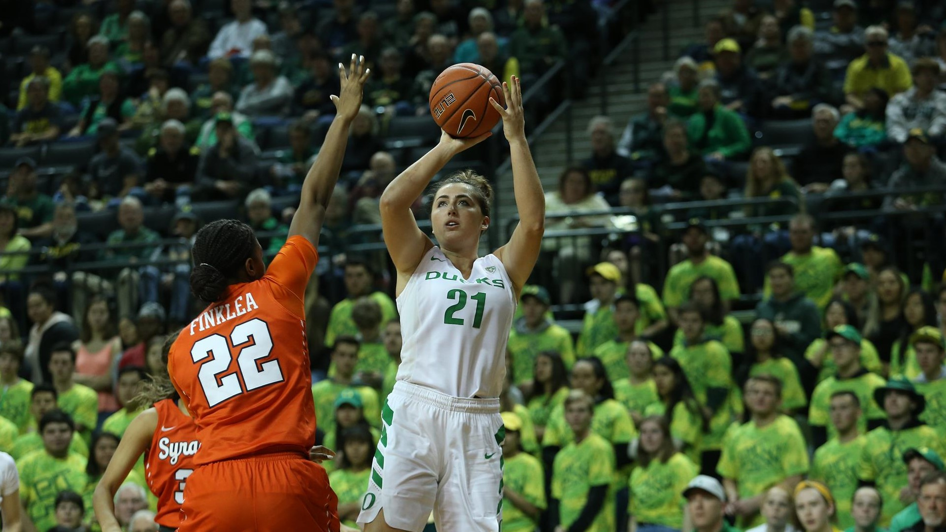 No 3 Ducks Top No 18 Syracuse University Of Oregon Athletics