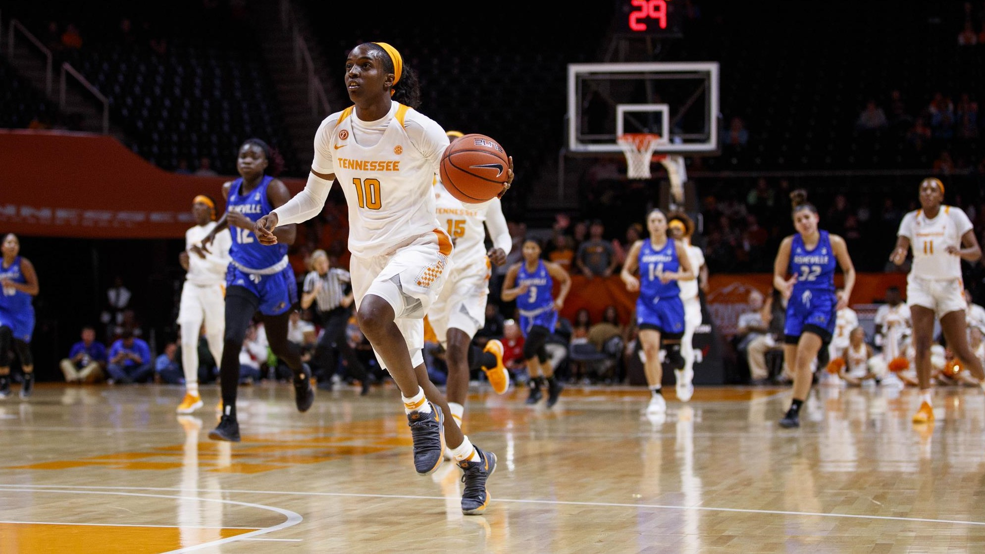 no. 12/12 lady vols cruise past unca, 73-46 - university of