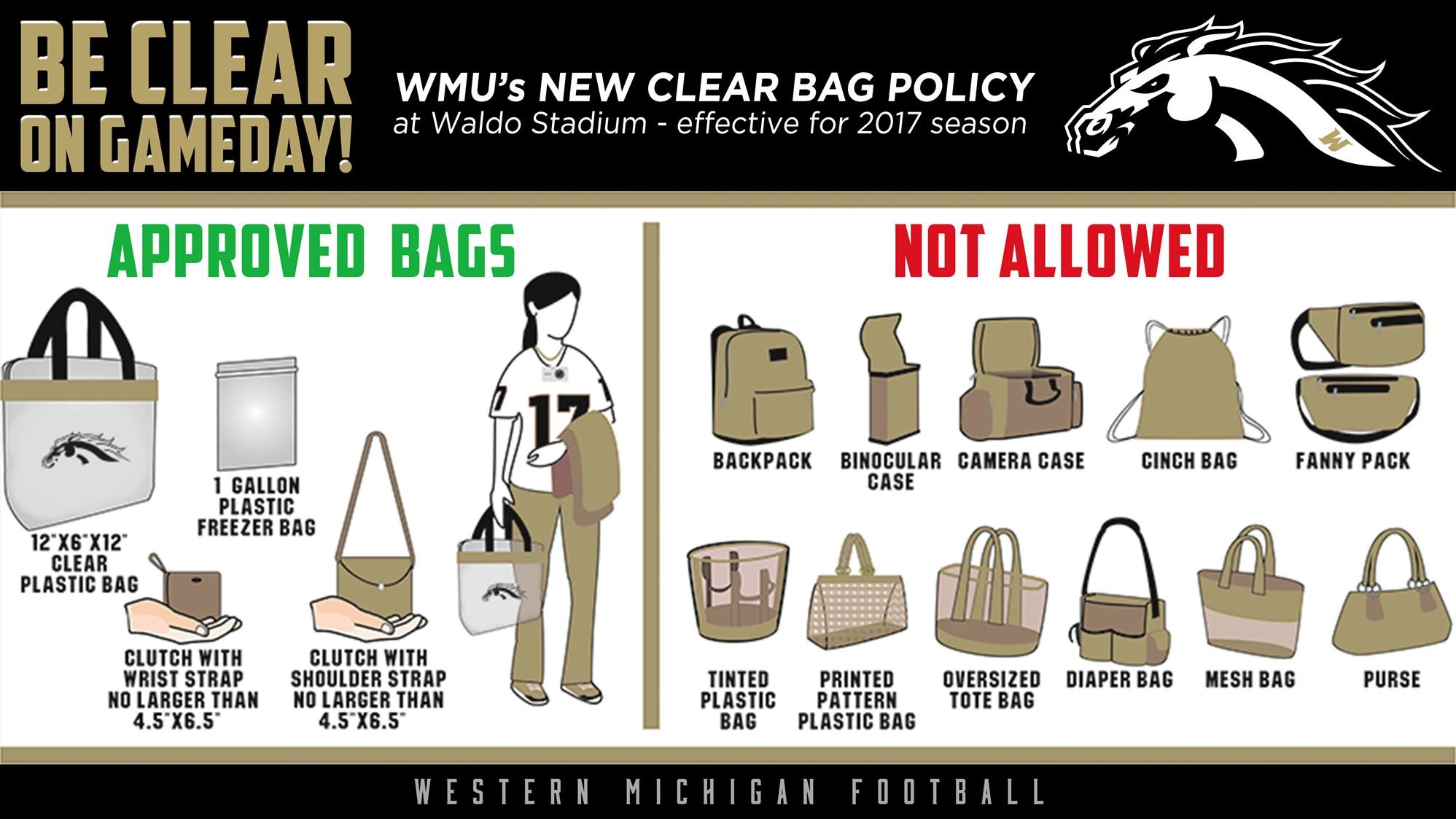 Wmu To Implement Clear Bag Policy At Waldo Stadium
