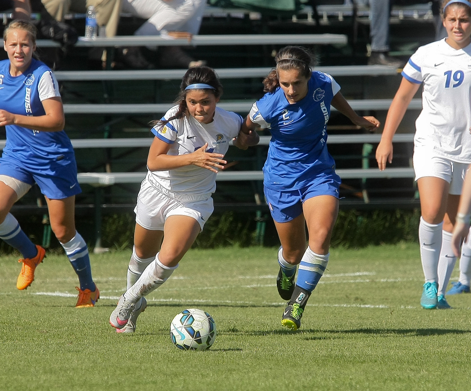Alexis Venegas gave the Spartans a 1-0 lead in the seventh minute of the 2-1 win at New Mexico Friday night.