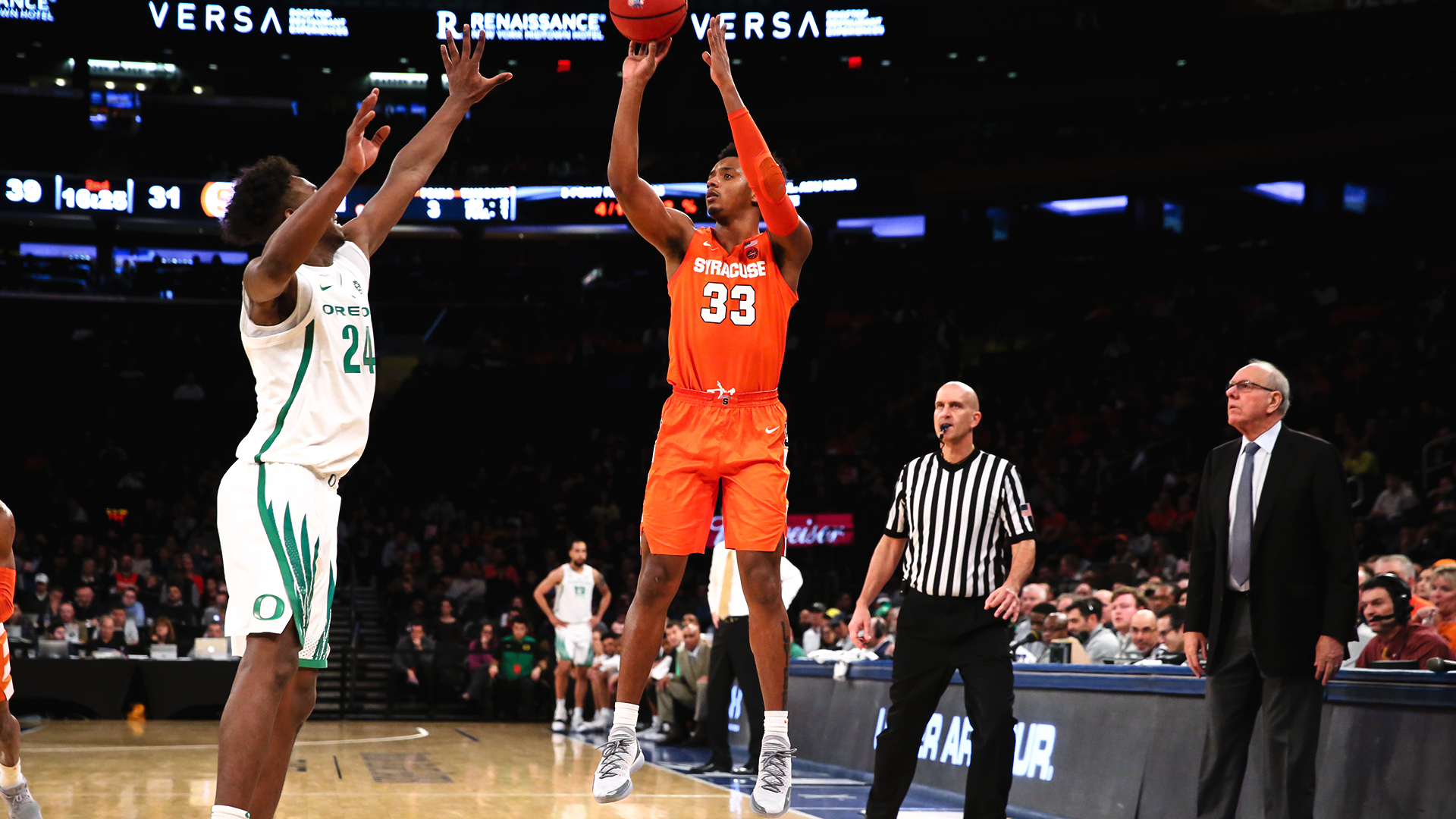 Four Orange Reach Double Digits In Loss To Oregon Syracuse